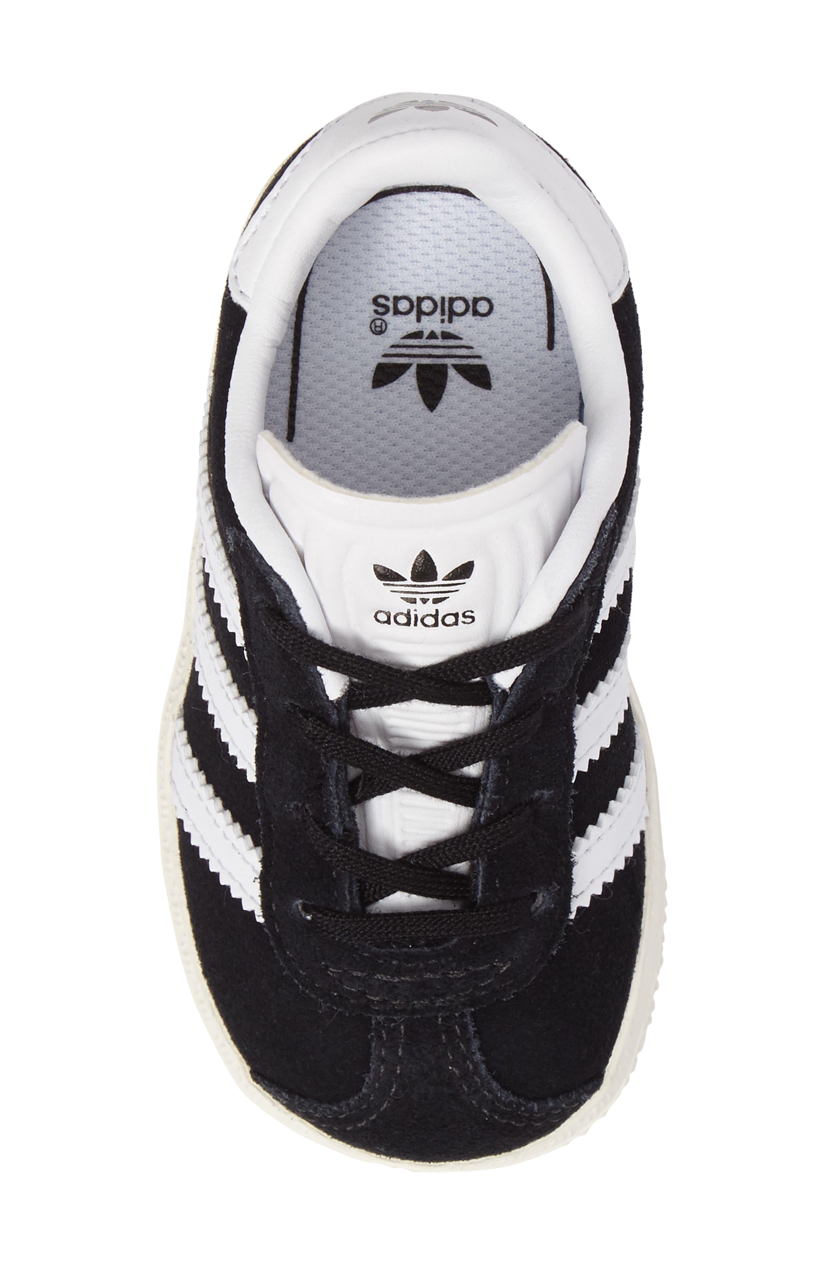ADIDAS,                             Gazelle Sneaker,                             Alternate thumbnail 5, color,                             001