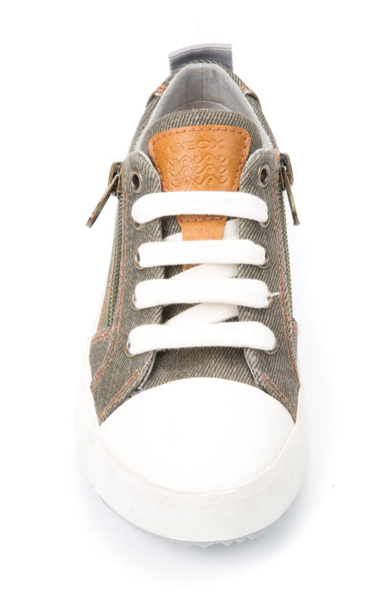 GEOX,                             Alonisso Low Top Sneaker,                             Alternate thumbnail 4, color,                             307