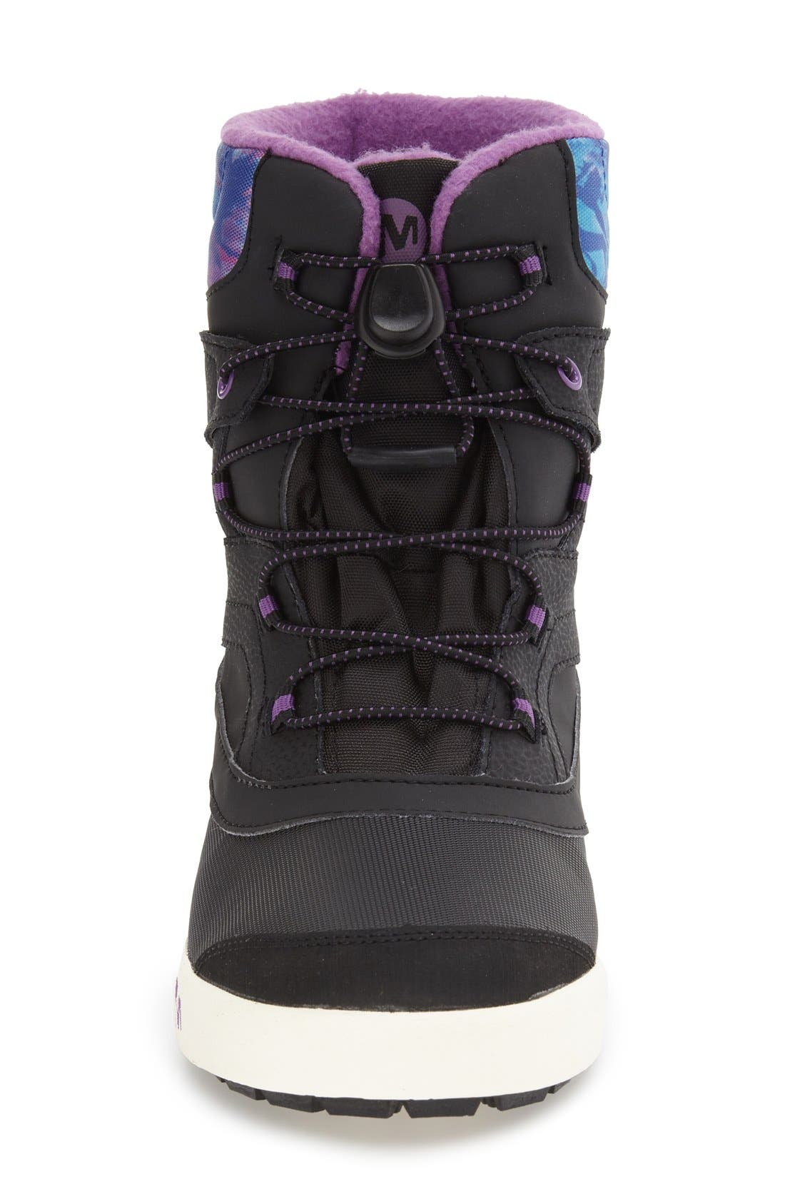 MERRELL,                             'Snow Bank 2' Waterproof Boot,                             Alternate thumbnail 3, color,                             BLACK/ PRINT/ BERRY LEATHER