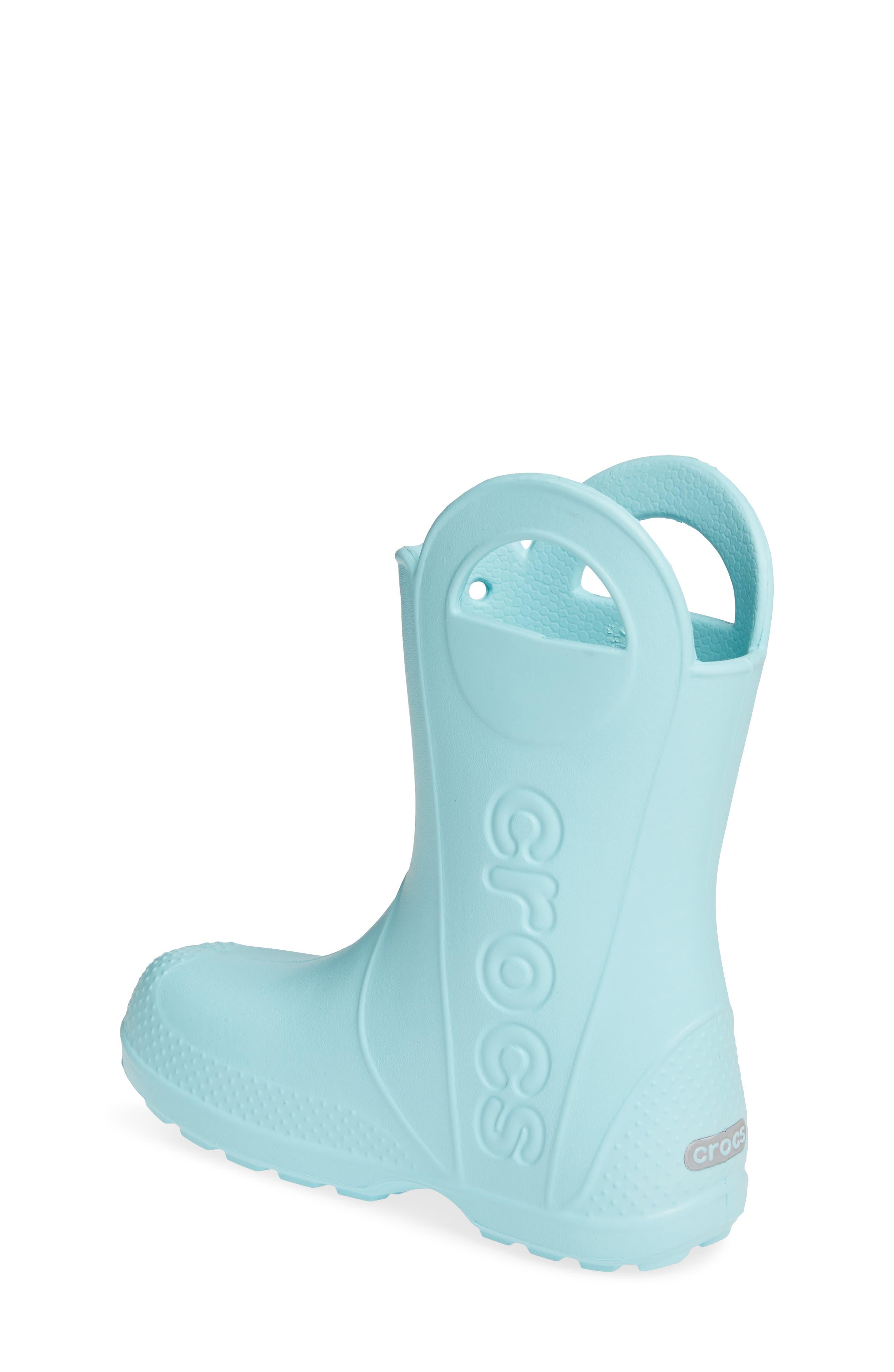 CROCS<SUP>™</SUP>,                             Handle It Waterproof Rain Boot,                             Alternate thumbnail 2, color,                             ICE BLUE