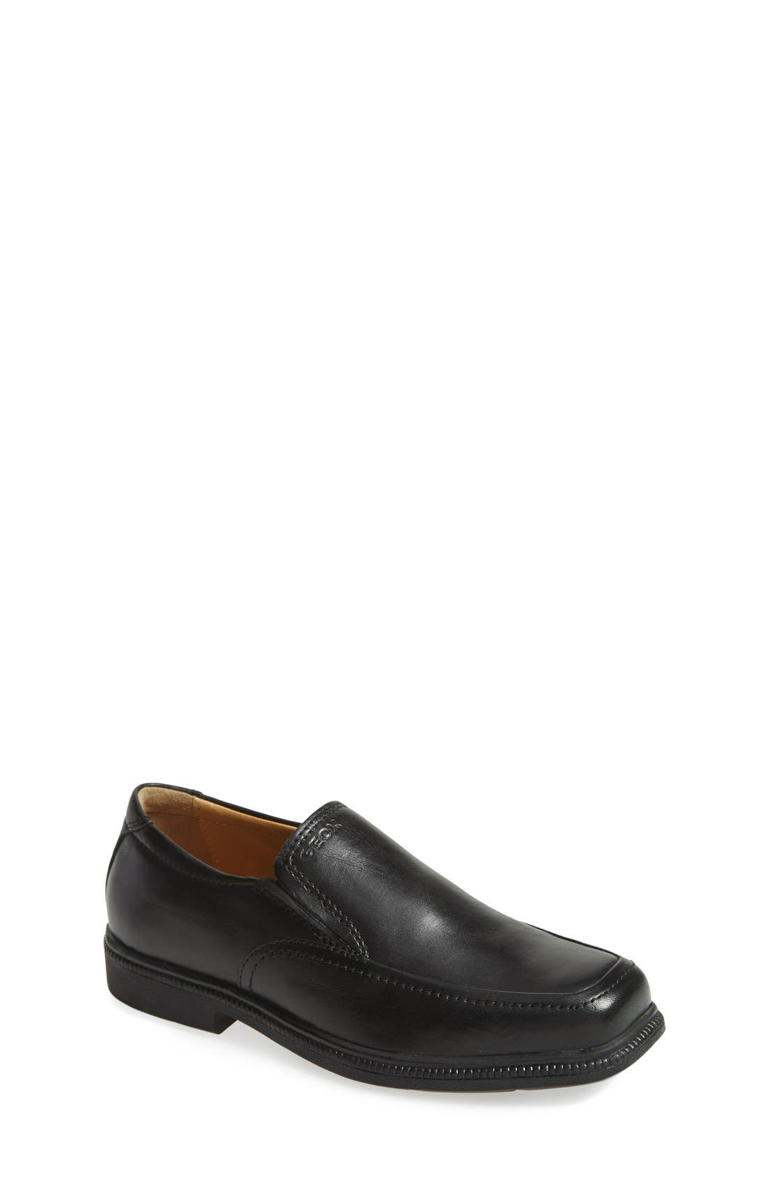 GEOX,                             'Federico' Loafer,                             Main thumbnail 1, color,                             BLACK