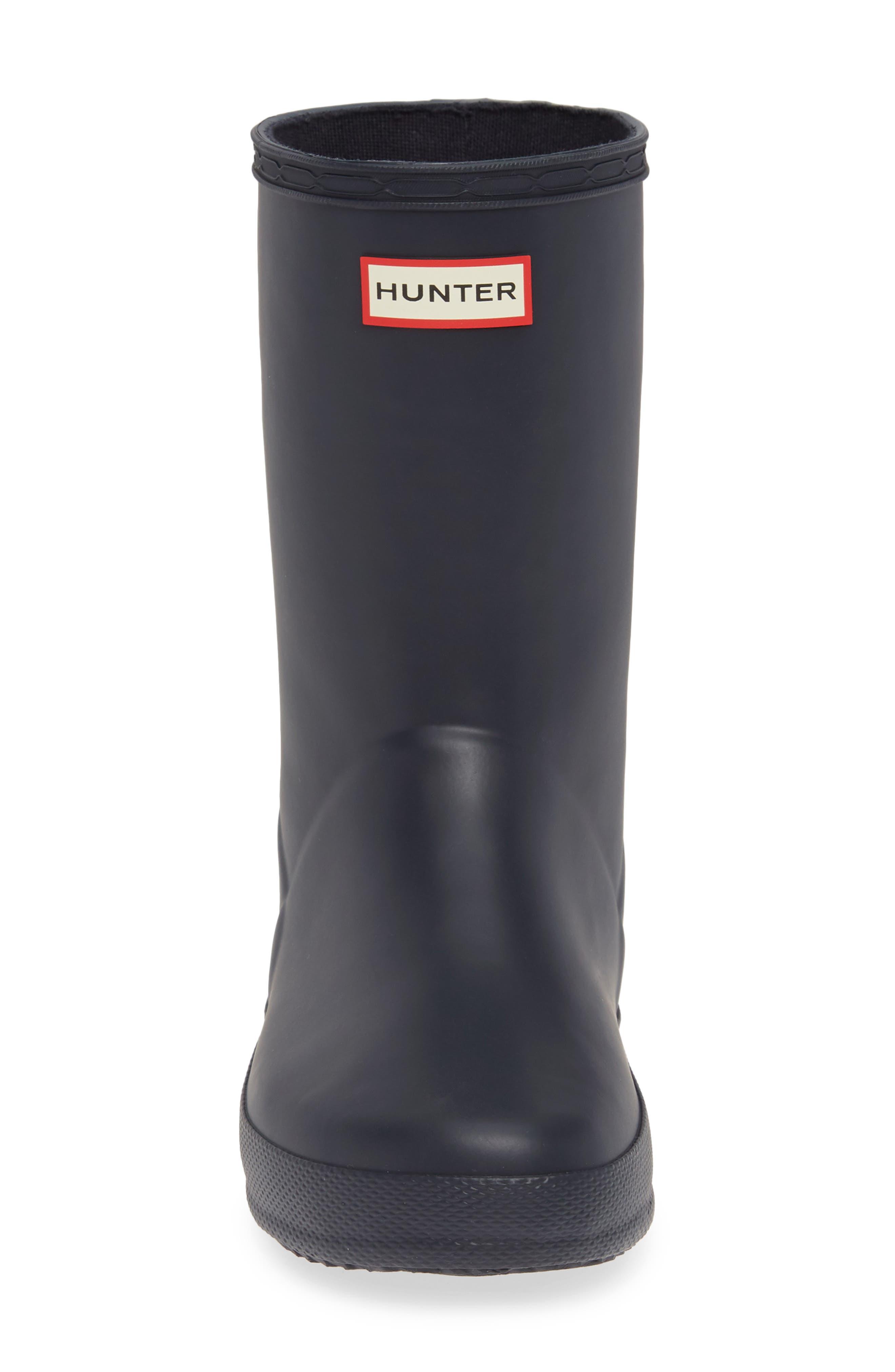 HUNTER,                             First Classic Waterproof Rain Boot,                             Alternate thumbnail 5, color,                             NAVY