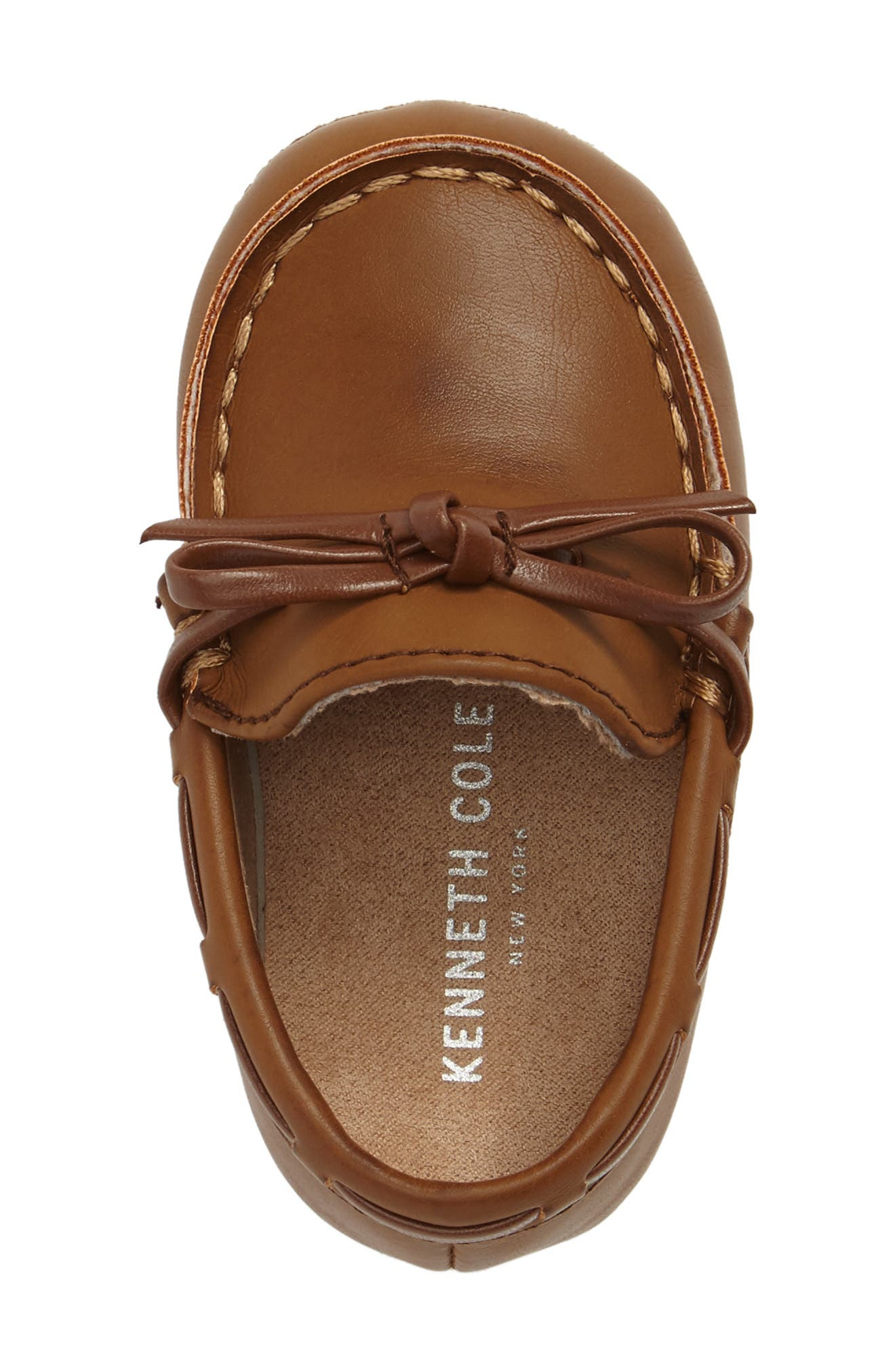 KENNETH COLE NEW YORK,                             Baby Boat Shoe,                             Alternate thumbnail 5, color,                             CARAMEL