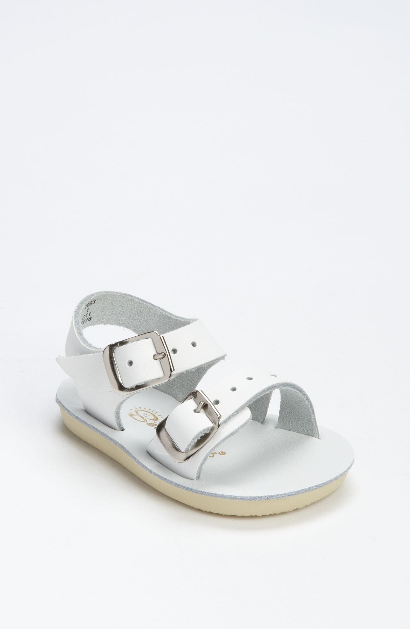 SALT WATER SANDALS BY HOY,                             Sea Wee Water Friendly Sandal,                             Main thumbnail 1, color,                             WHITE