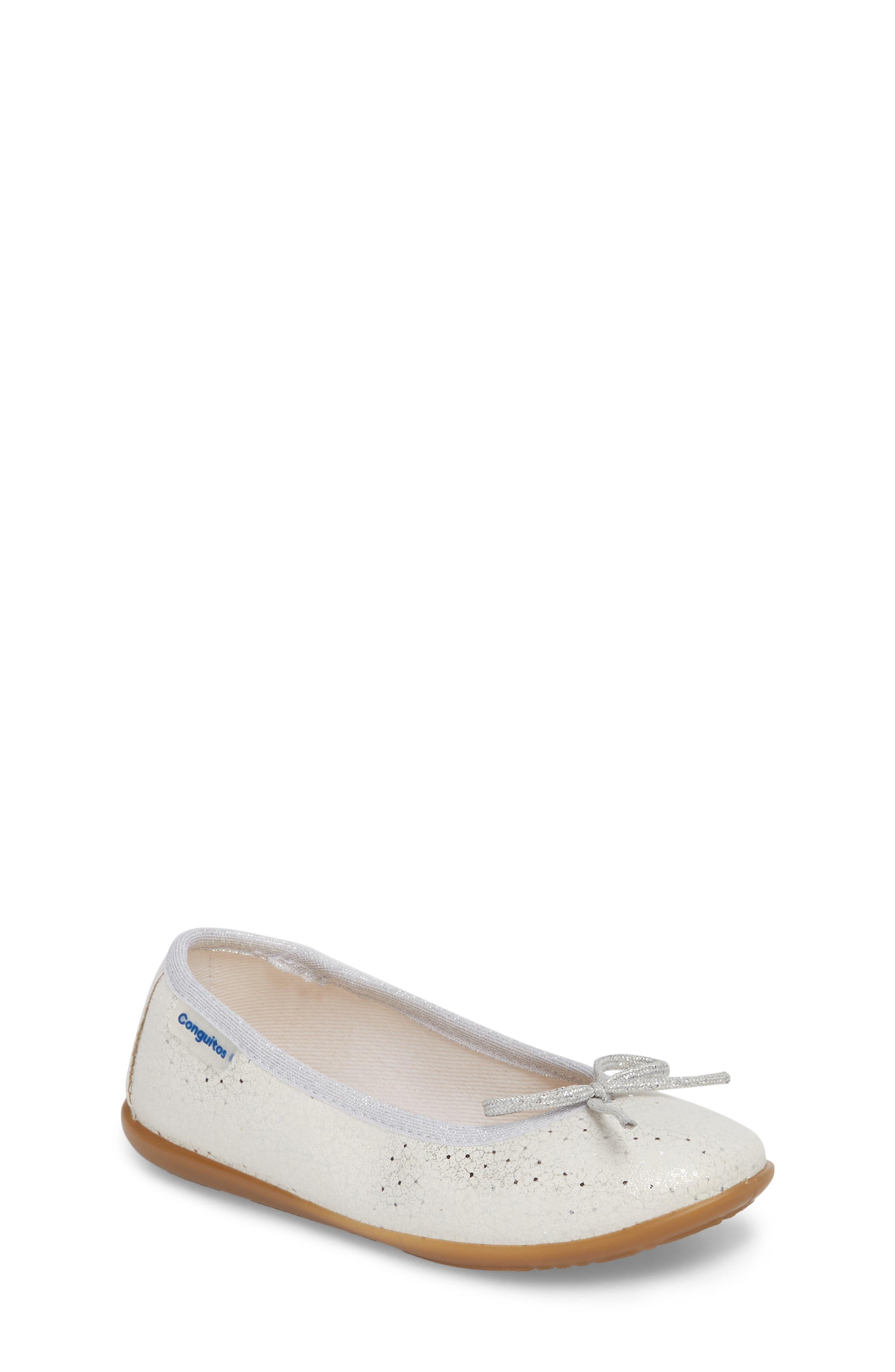 CONGUITOS Aire Metallic Ballet Flat, Main, color, 040