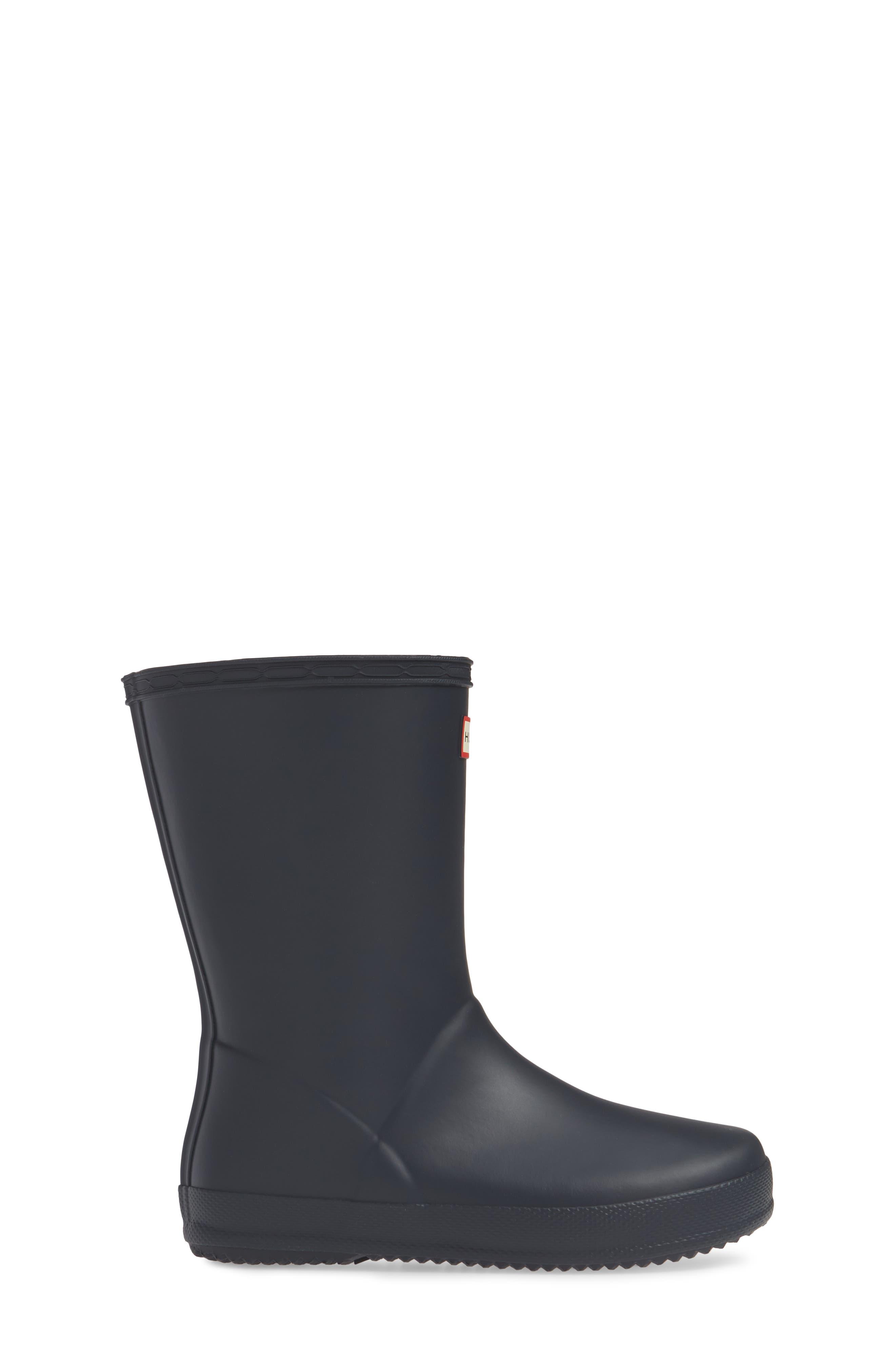HUNTER,                             First Classic Waterproof Rain Boot,                             Alternate thumbnail 4, color,                             NAVY