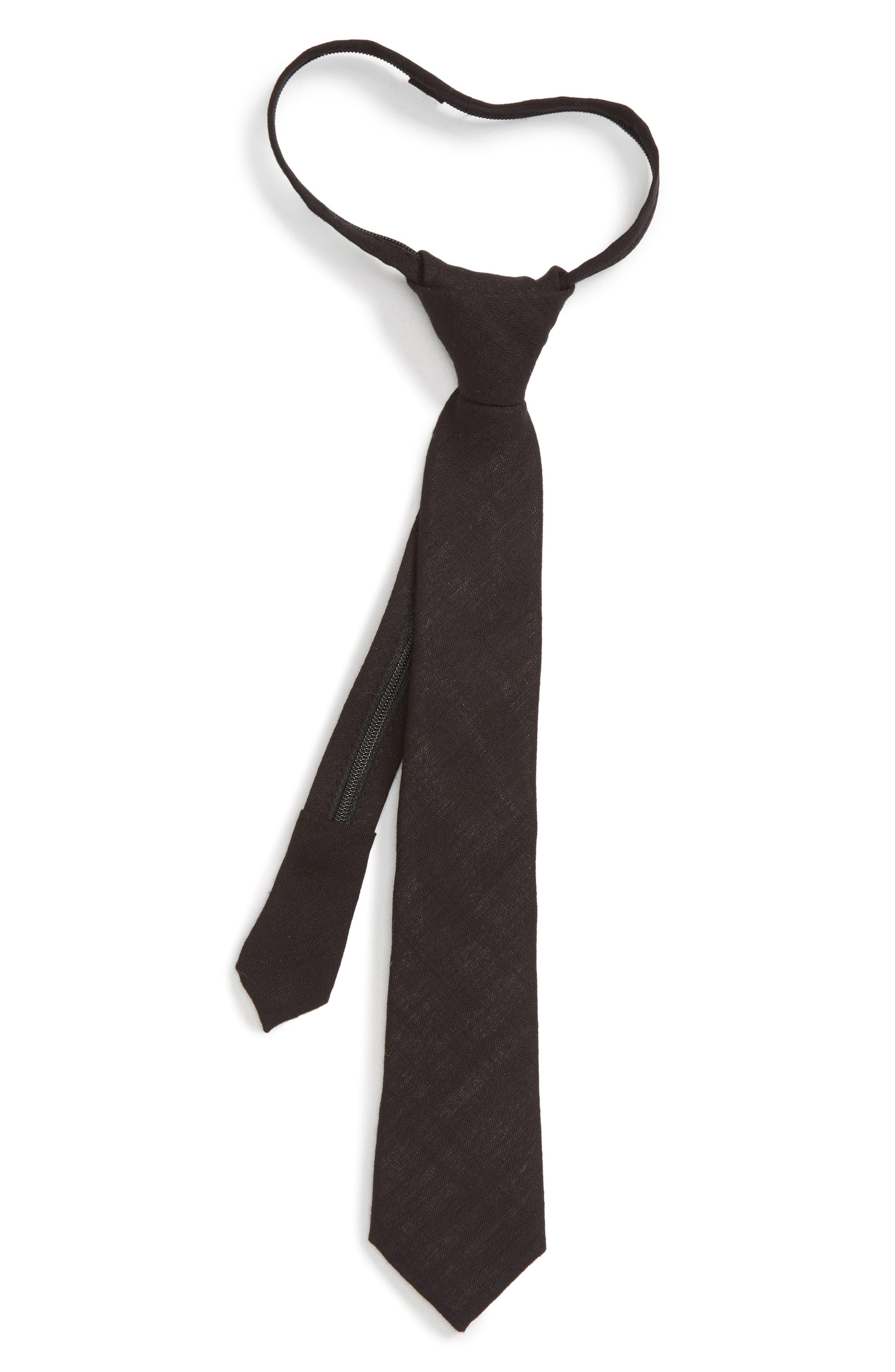 NORDSTROM,                             Solid Zip Tie,                             Main thumbnail 1, color,                             001
