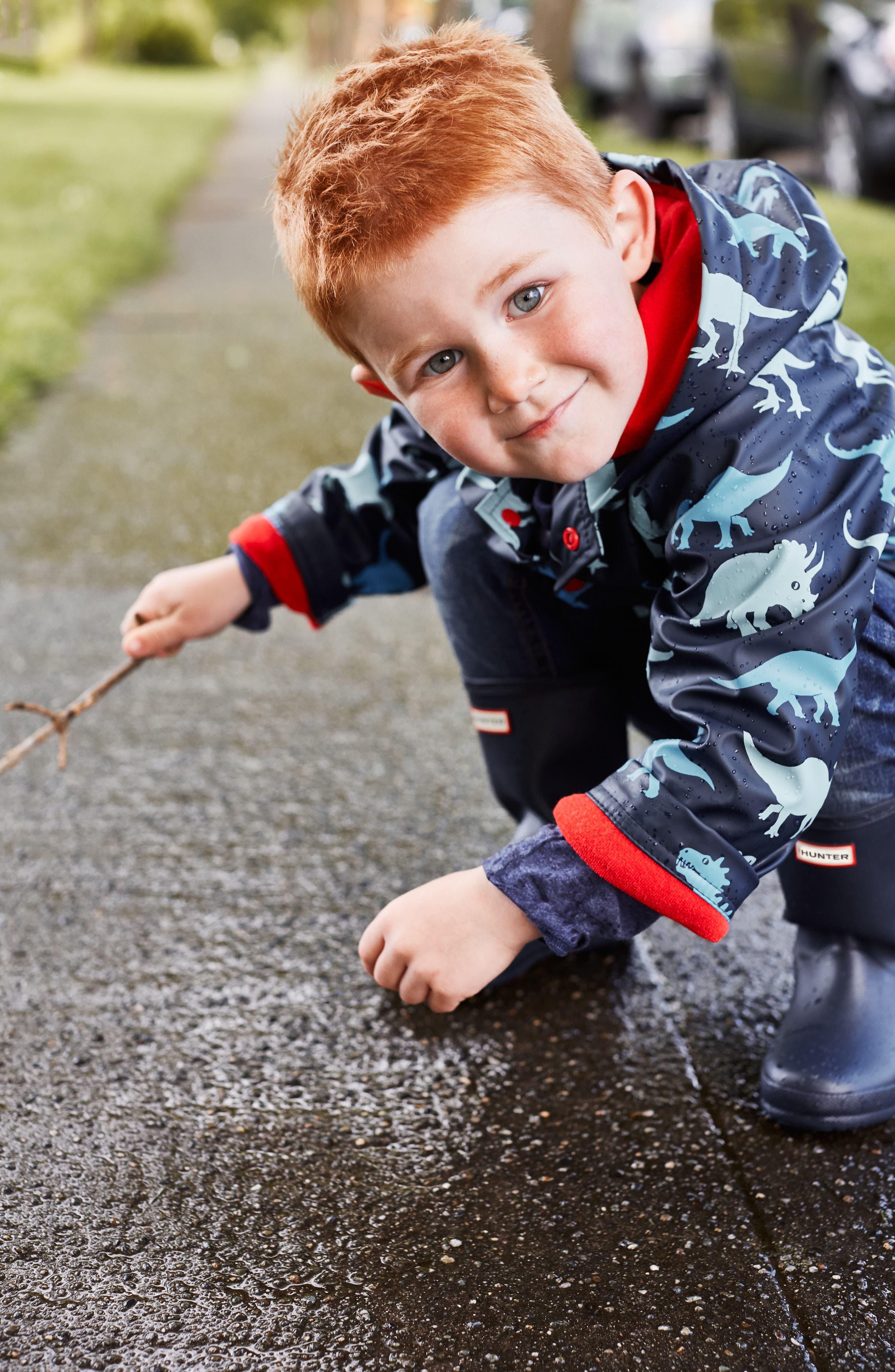 HUNTER,                             First Classic Waterproof Rain Boot,                             Alternate thumbnail 12, color,                             NAVY