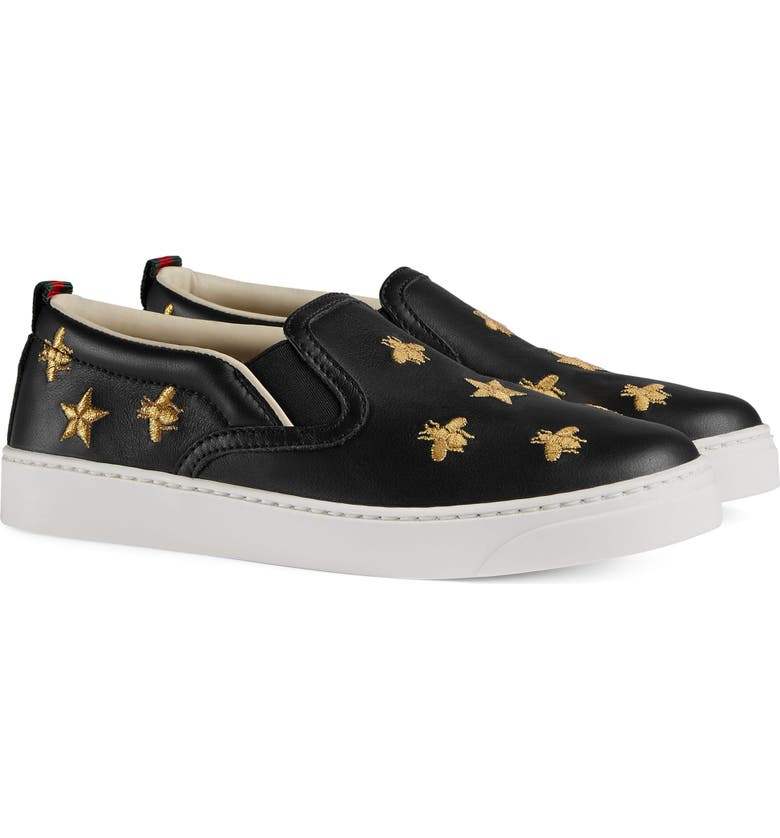 ff4807565e9 Gucci Dublin Bees and Stars Slip-On Sneaker (Toddler
