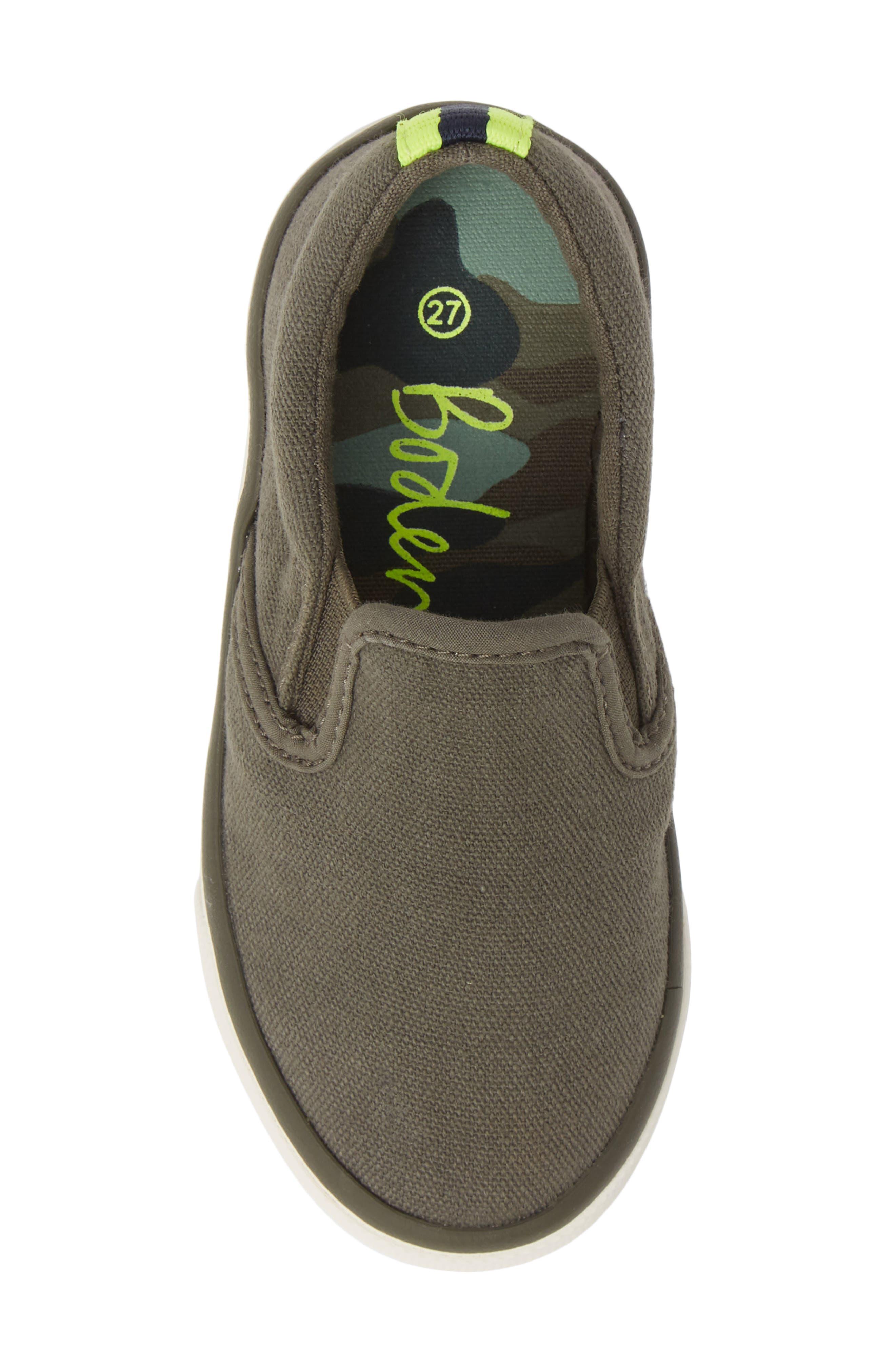 MINI BODEN,                             Slip-On Sneaker,                             Alternate thumbnail 5, color,                             ARMY GREEN