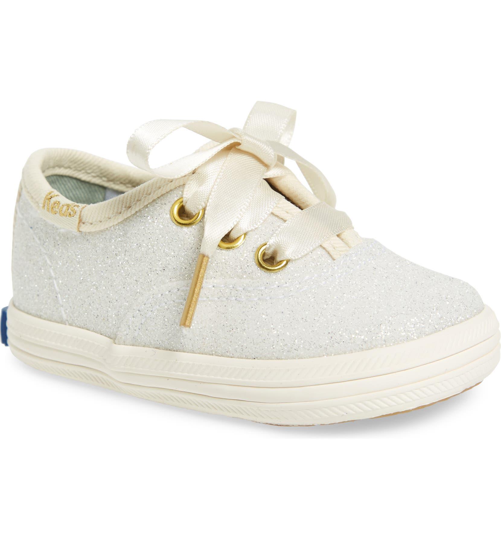 5b210e5abbf Keds® x kate spade new york Champion Glitter Crib Shoe (Baby ...