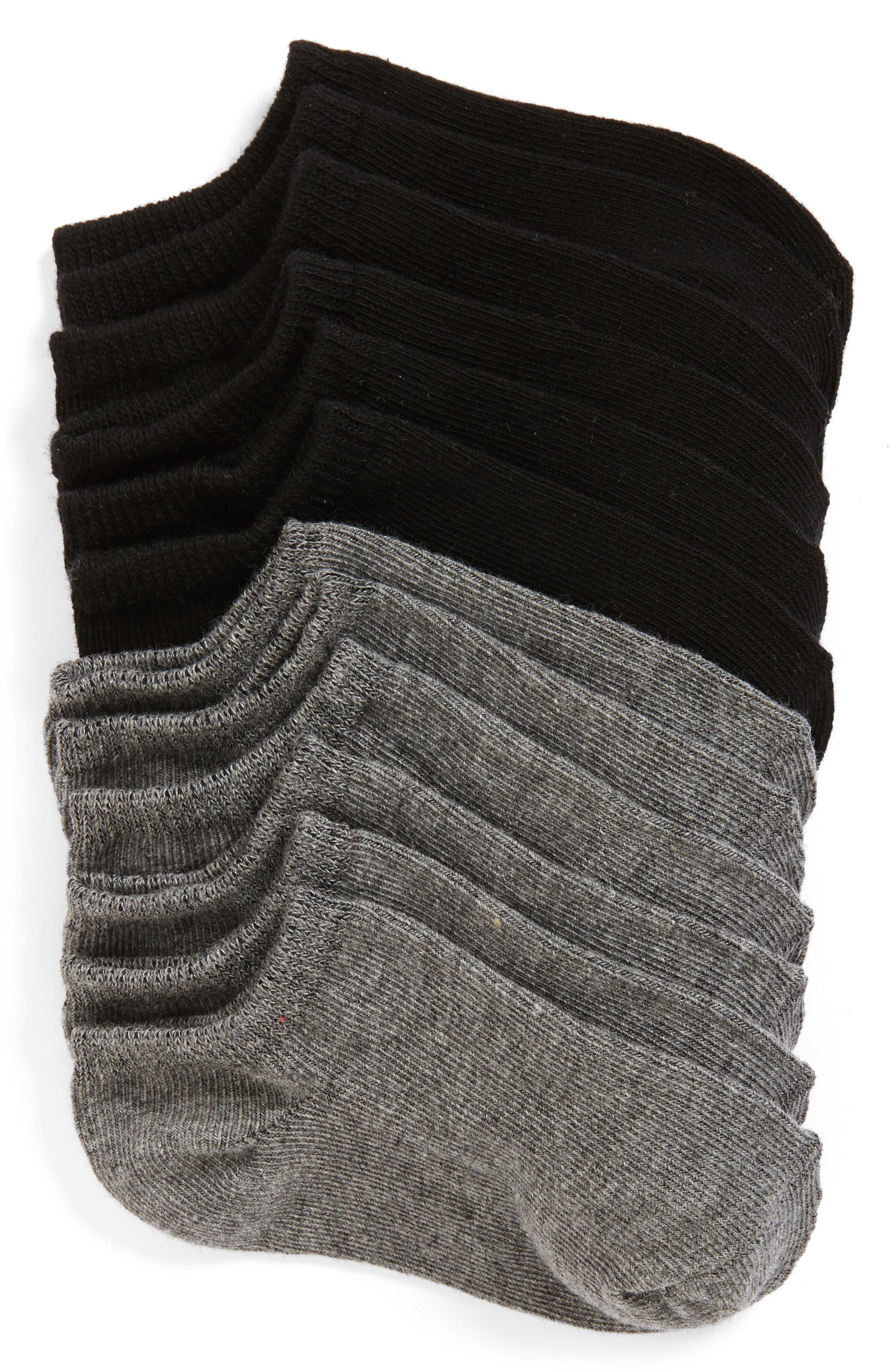 TUCKER + TATE,                             6-Pack Low Cut Socks,                             Main thumbnail 1, color,                             MULTI