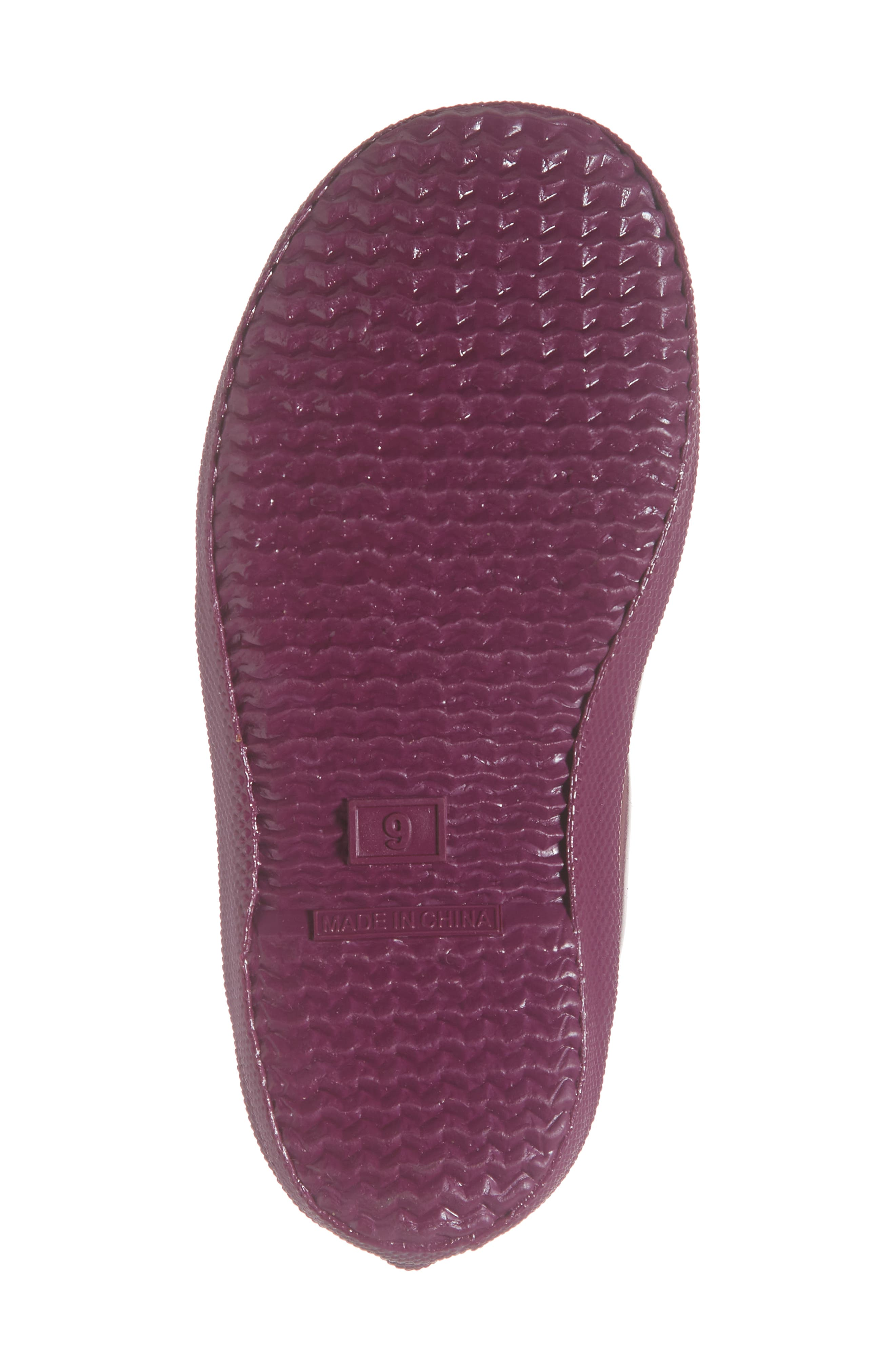 HUNTER,                             'First Gloss' Rain Boot,                             Alternate thumbnail 6, color,                             VIOLET