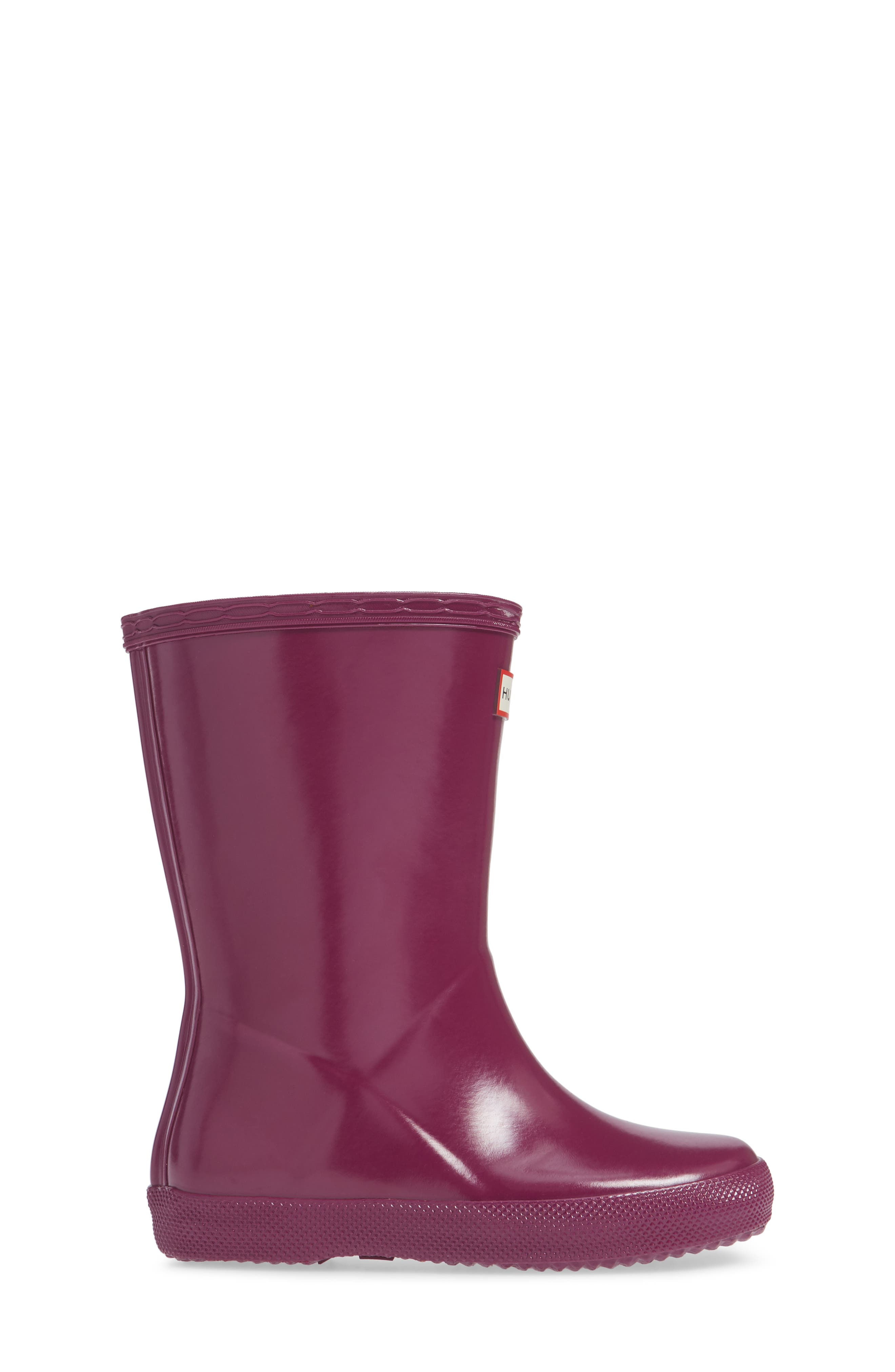 HUNTER,                             'First Gloss' Rain Boot,                             Alternate thumbnail 3, color,                             VIOLET