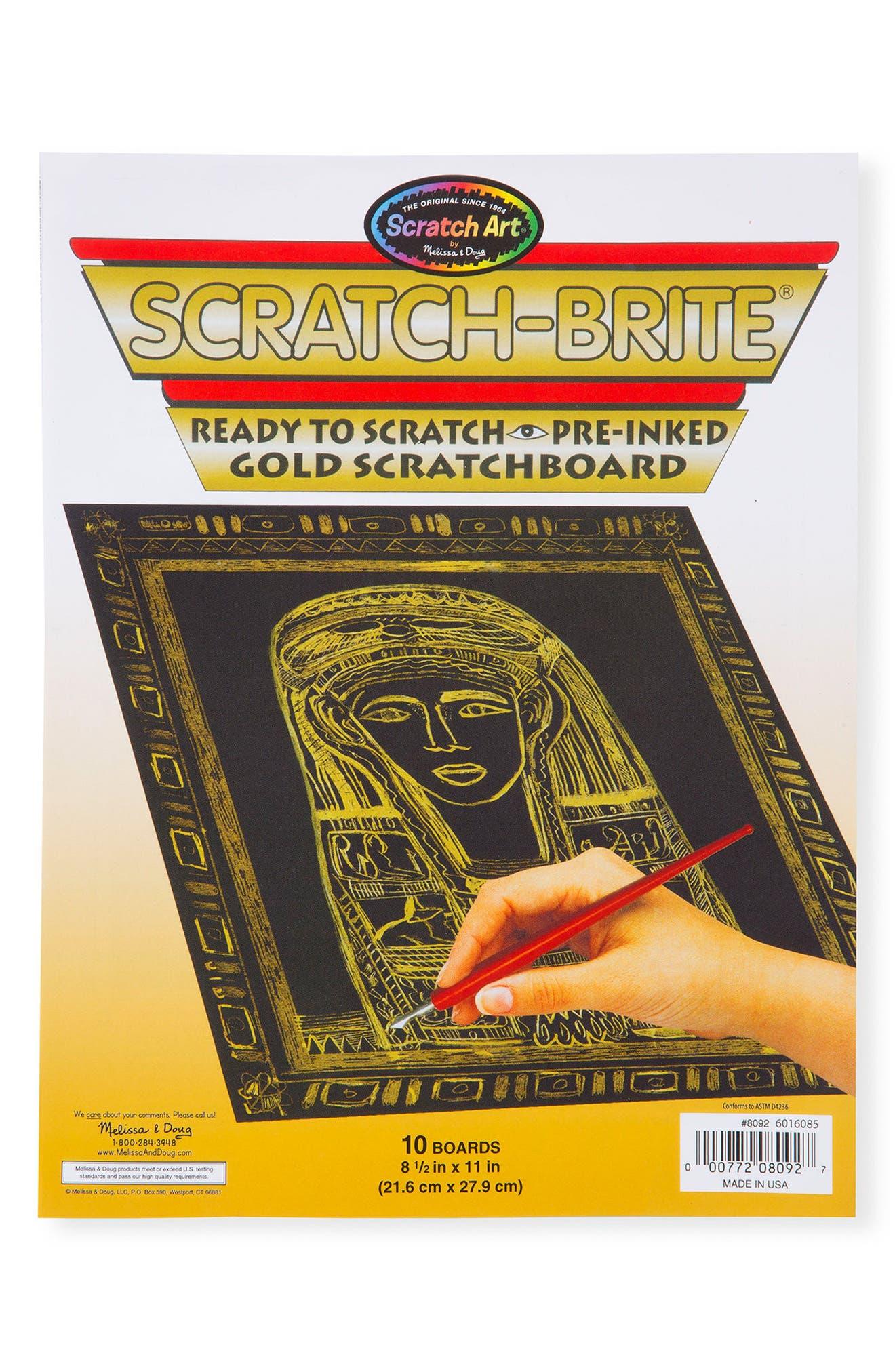 MELISSA & DOUG,                             Golden Scratch Board,                             Alternate thumbnail 4, color,                             MULTI