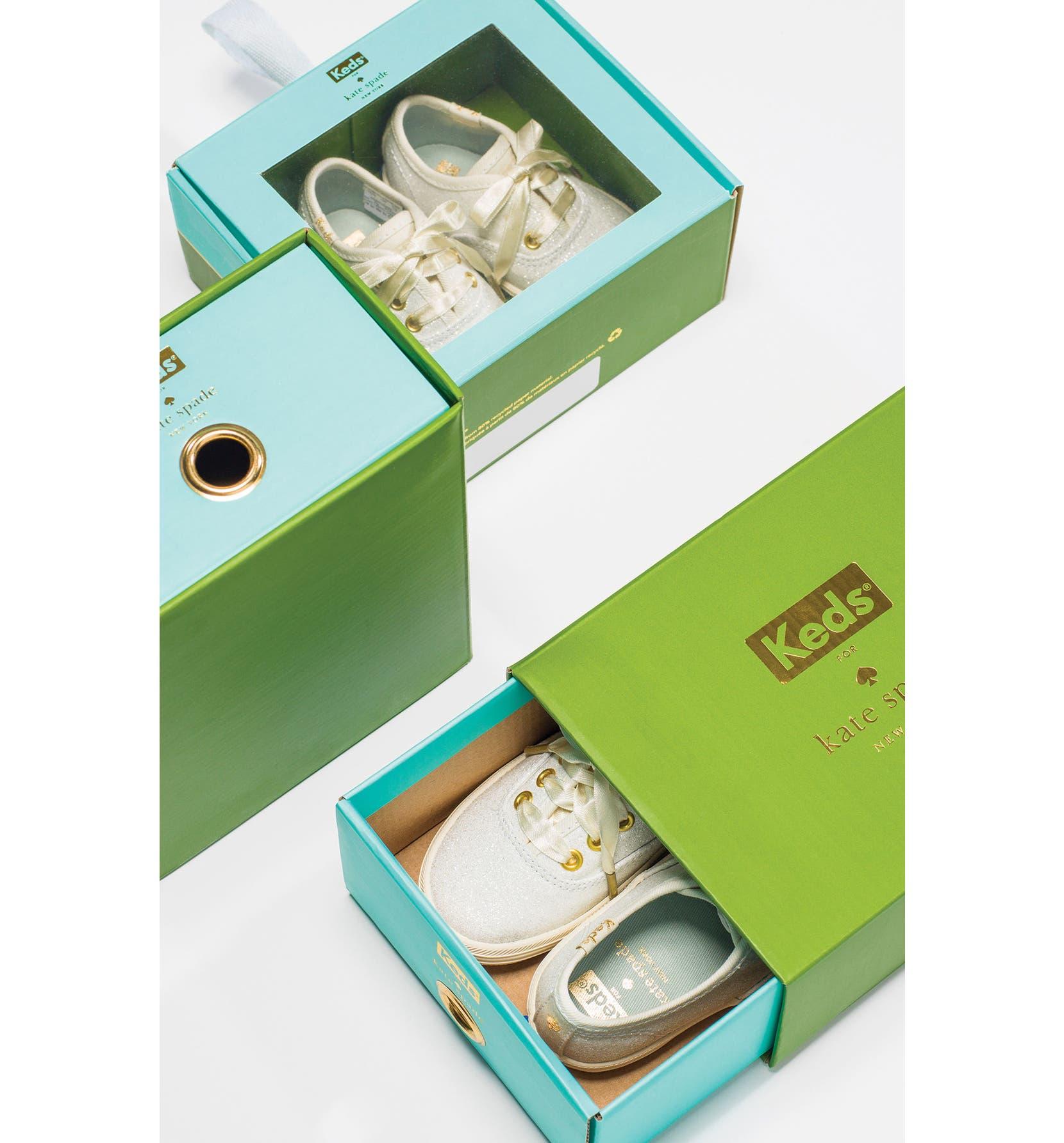 e4f521e87534 Keds® x kate spade new york Champion Glitter Crib Shoe (Baby ...