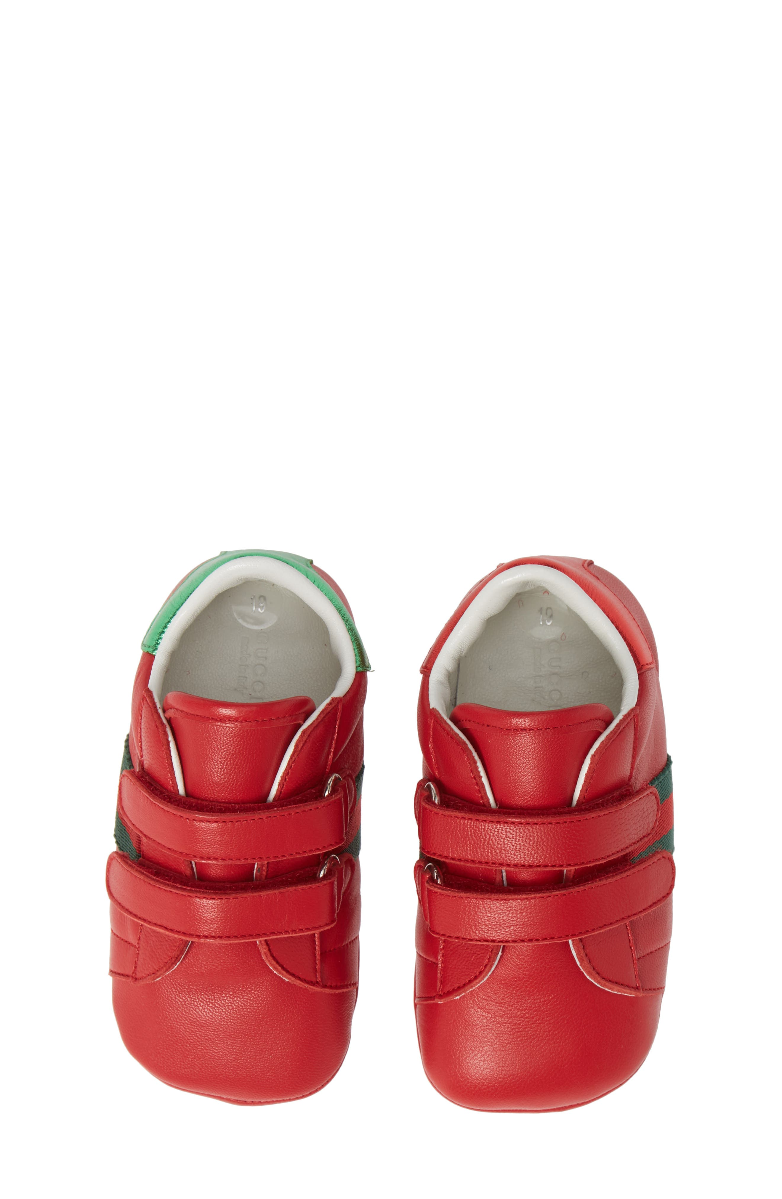 GUCCI Ace Crib Shoe, Main, color, RED