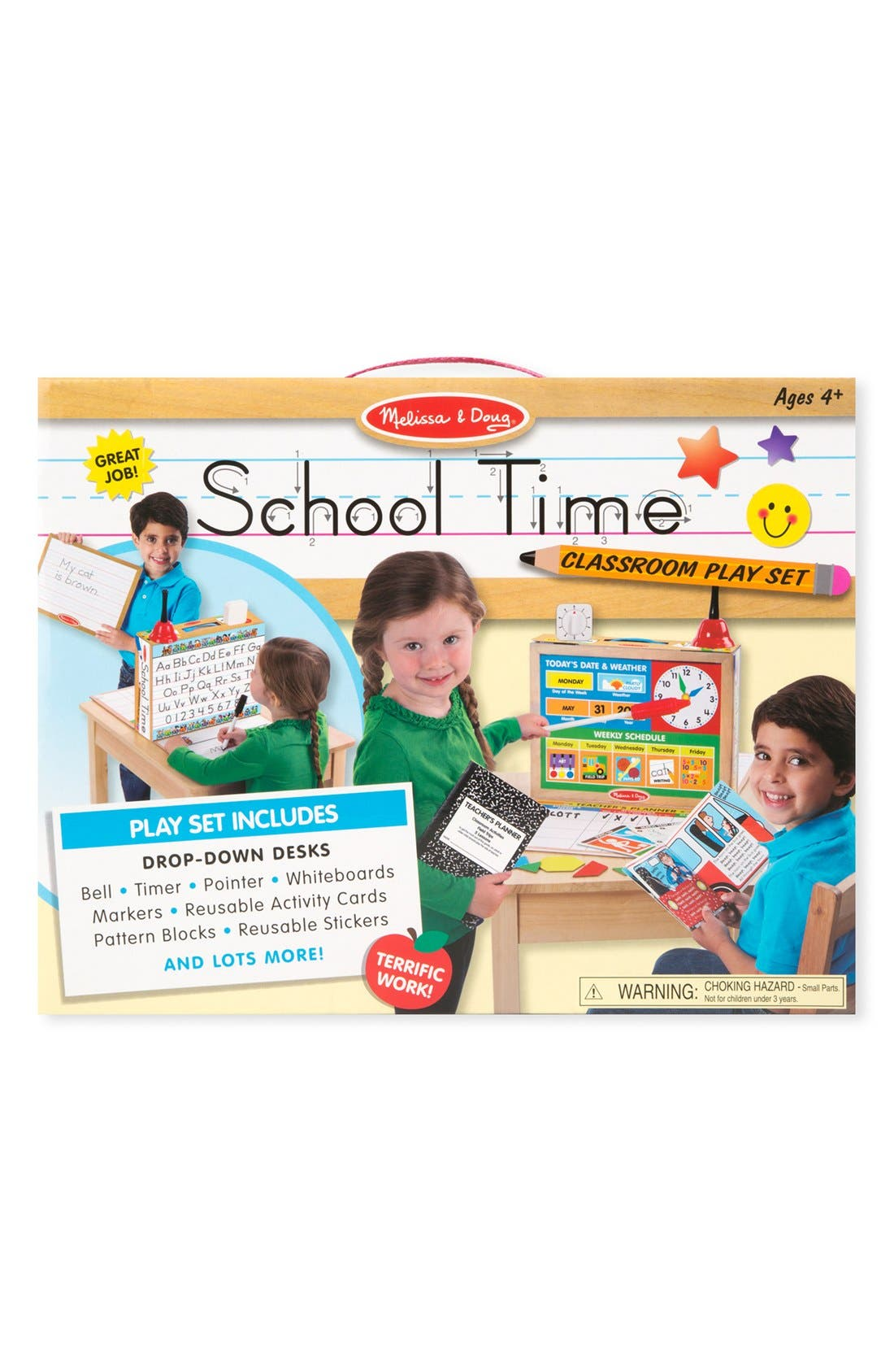 MELISSA & DOUG,                             'School Time!' Classroom Play Set,                             Main thumbnail 1, color,                             BROWN