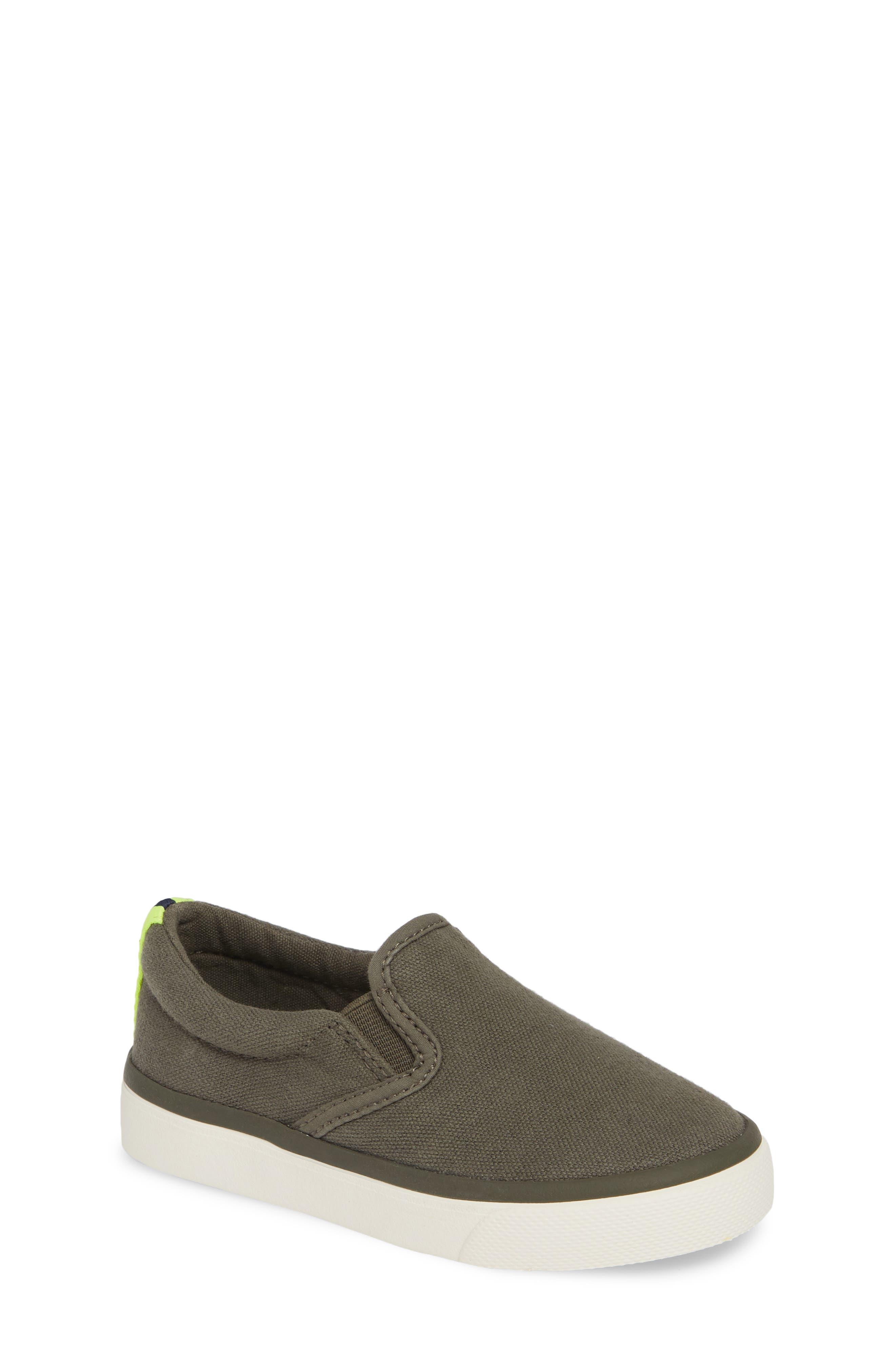 MINI BODEN Slip-On Sneaker, Main, color, ARMY GREEN