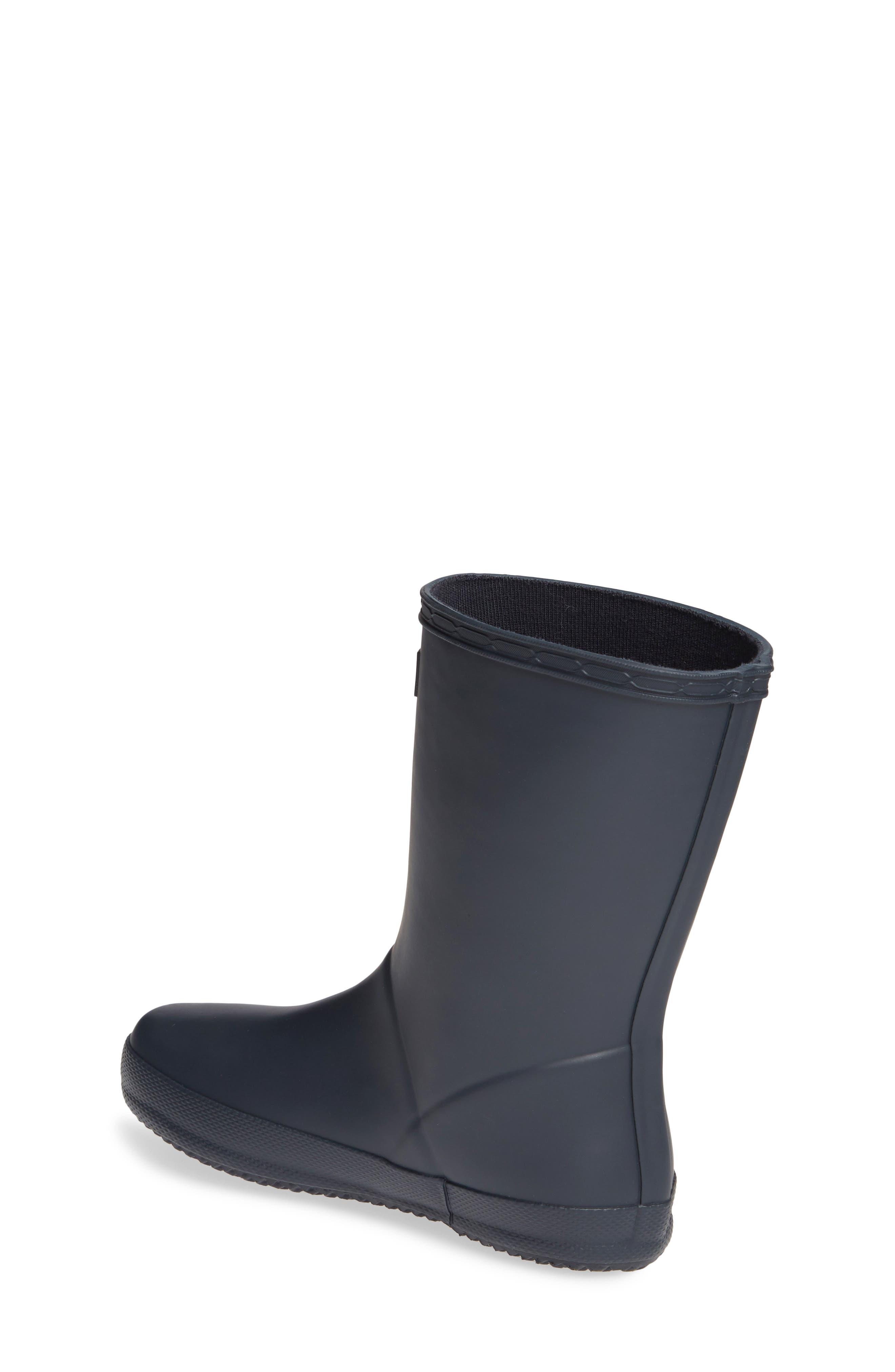 HUNTER,                             First Classic Waterproof Rain Boot,                             Alternate thumbnail 3, color,                             NAVY