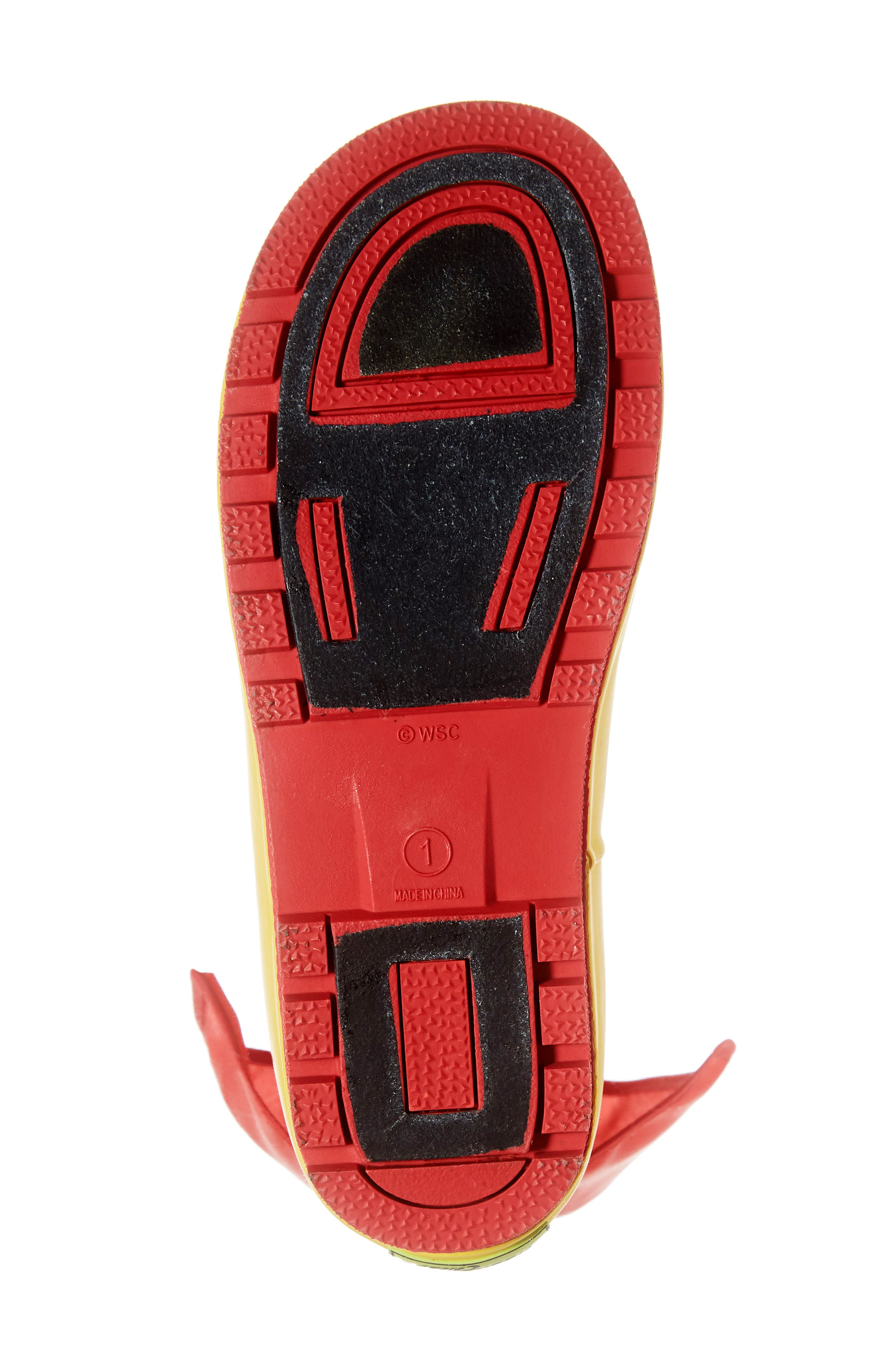 WESTERN CHIEF,                             Wonder Woman Waterproof Rain Boot,                             Alternate thumbnail 6, color,                             RED