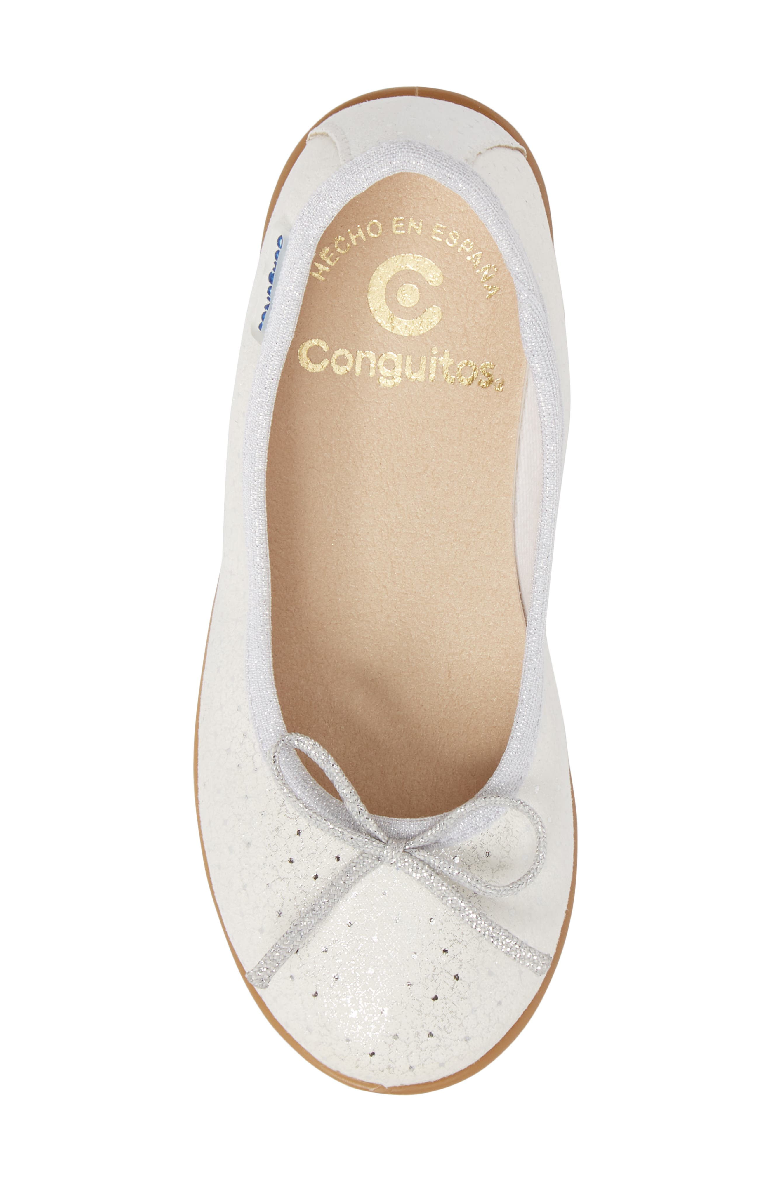 CONGUITOS,                             Aire Metallic Ballet Flat,                             Alternate thumbnail 5, color,                             040