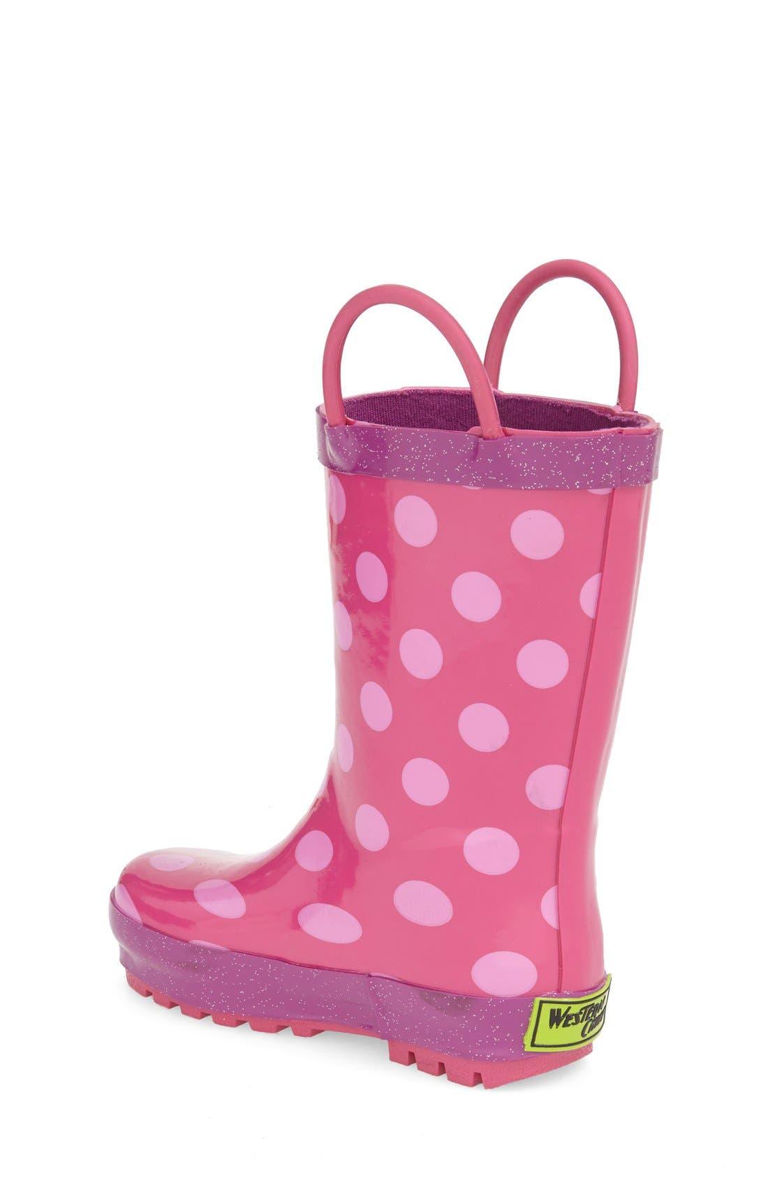 WESTERN CHIEF,                             Flower Cutie Rain Boot,                             Alternate thumbnail 2, color,                             PINK