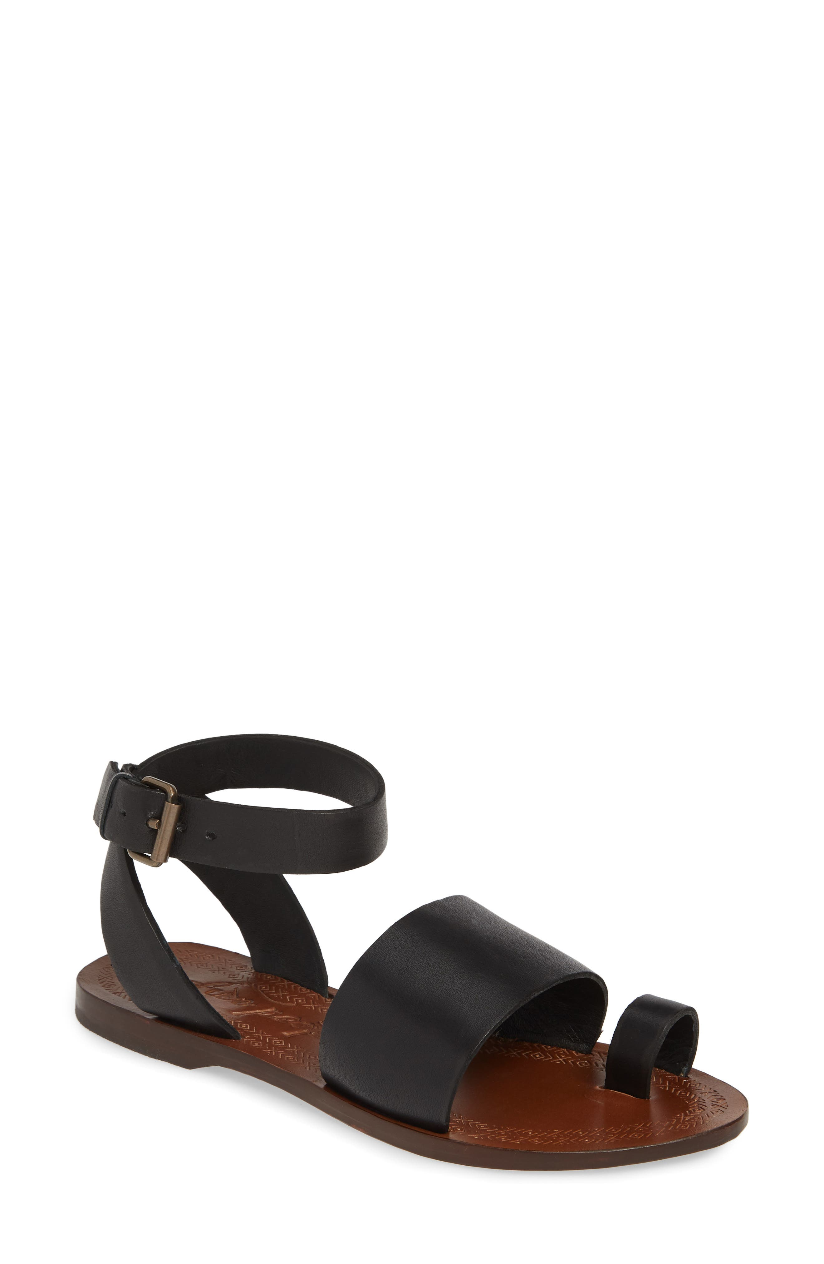 FREE PEOPLE, Torrence Ankle Wrap Sandal, Main thumbnail 1, color, OXFORD/ SANG