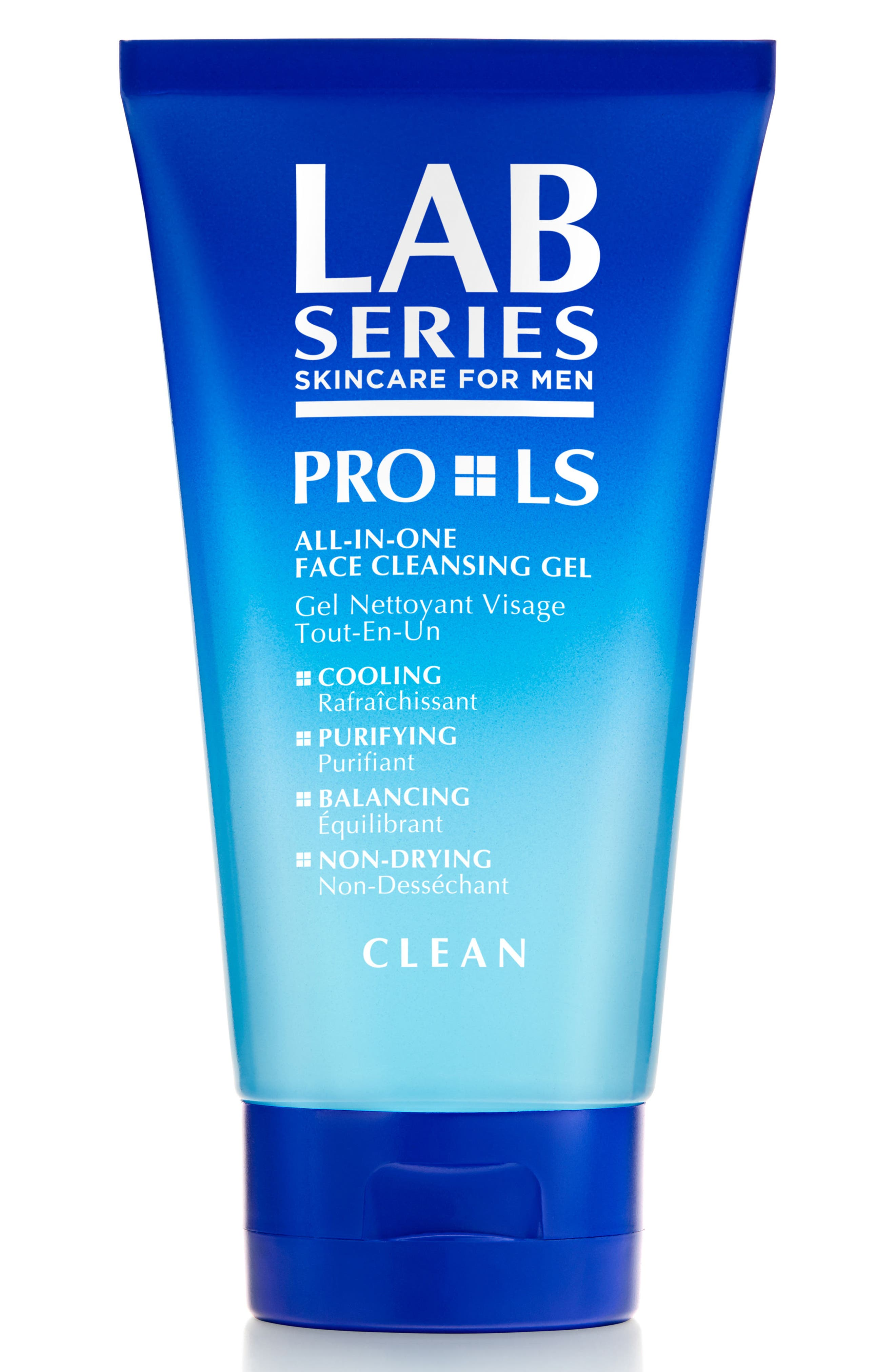 LAB SERIES SKINCARE FOR MEN, PRO LS All-in-One Face Cleansing Gel, Main thumbnail 1, color, NO COLOR