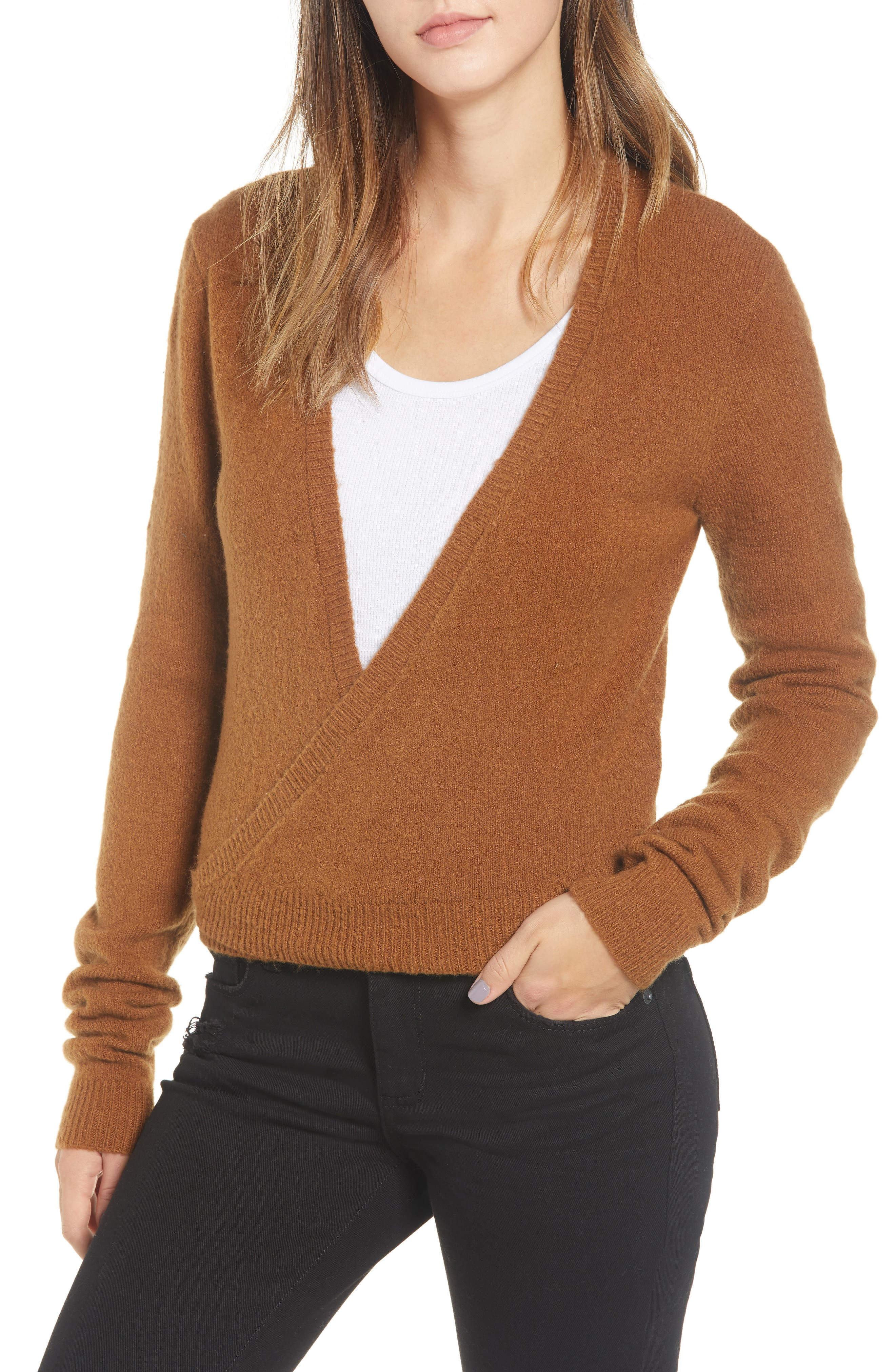 RVCA The Fuz Wrap Sweater, Main, color, 200