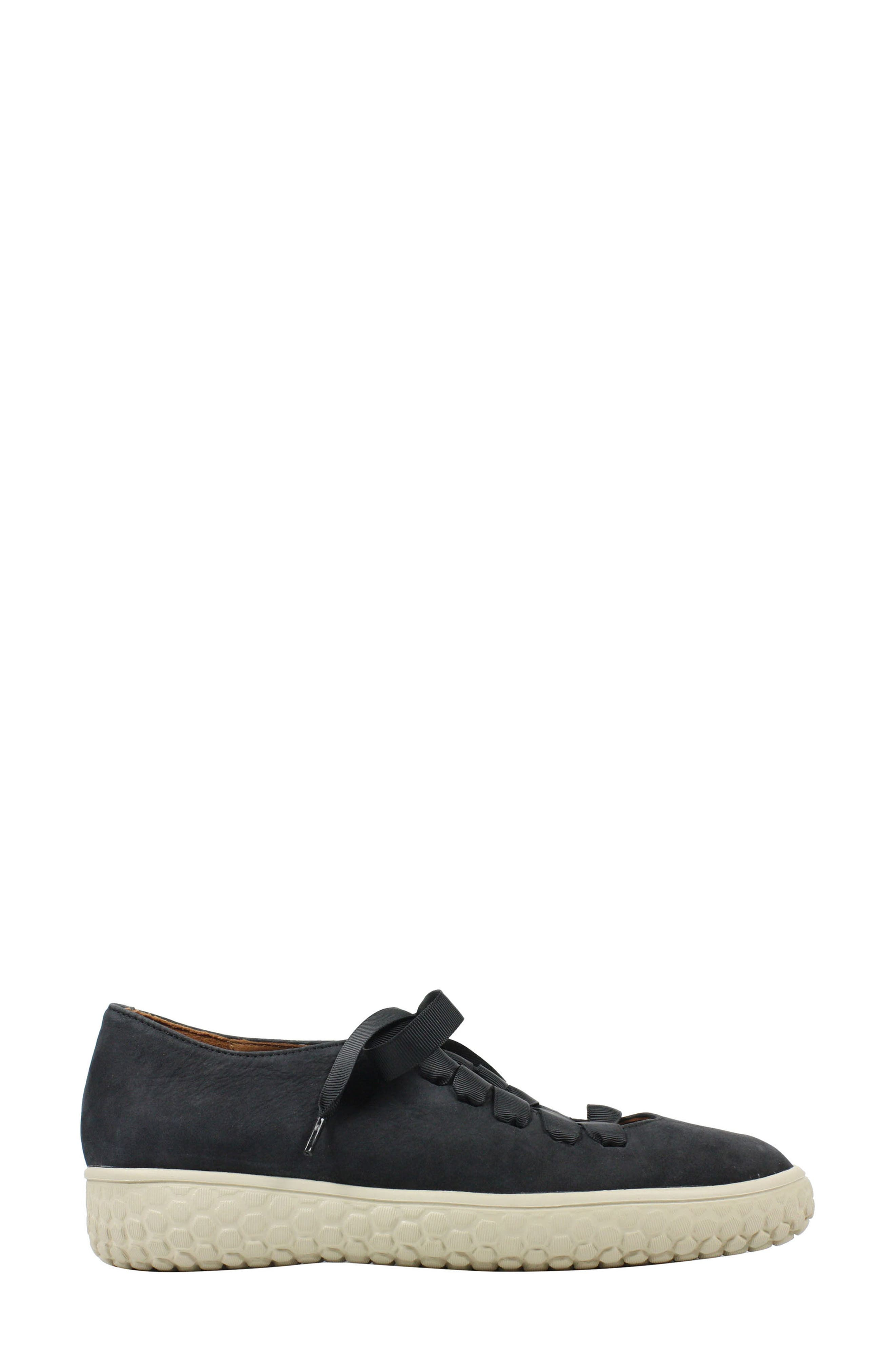 L'AMOUR DES PIEDS, Zaheera Sneaker, Alternate thumbnail 3, color, BLACK NUBUCK LEATHER