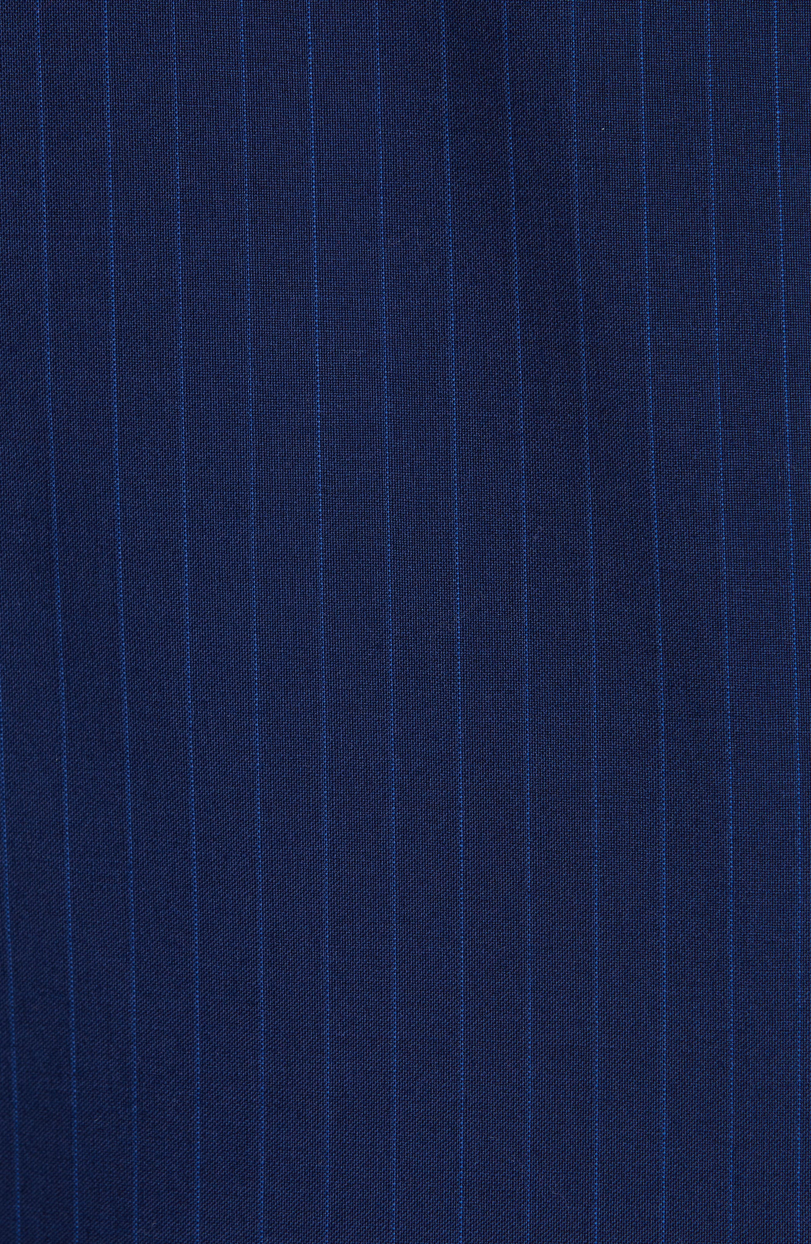 CANALI, Sienna Classic Fit Stripe Wool Suit, Alternate thumbnail 7, color, BLUE