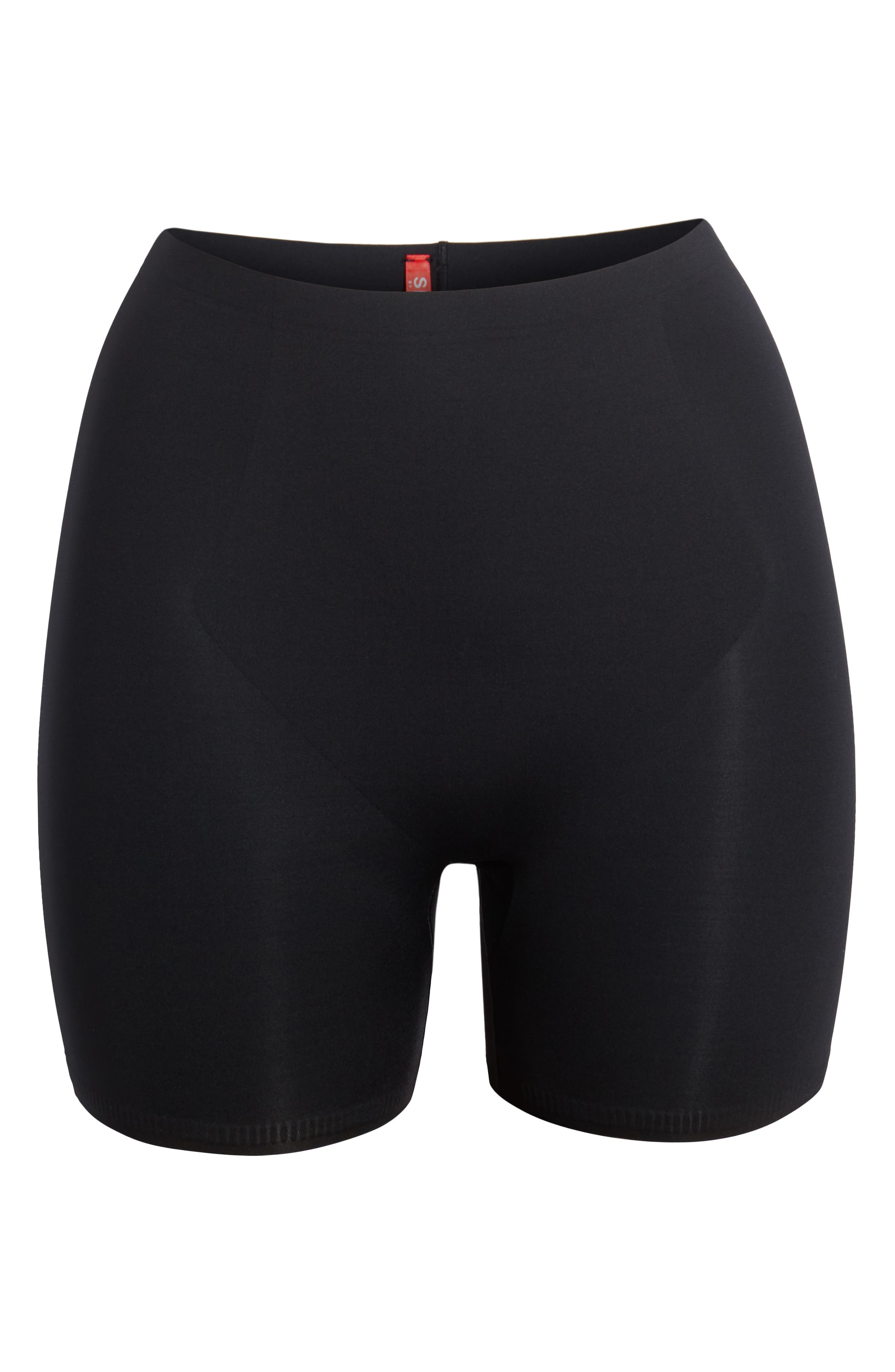 SPANX<SUP>®</SUP>, Thinstincts Girl Shorts, Alternate thumbnail 4, color, VERY BLACK