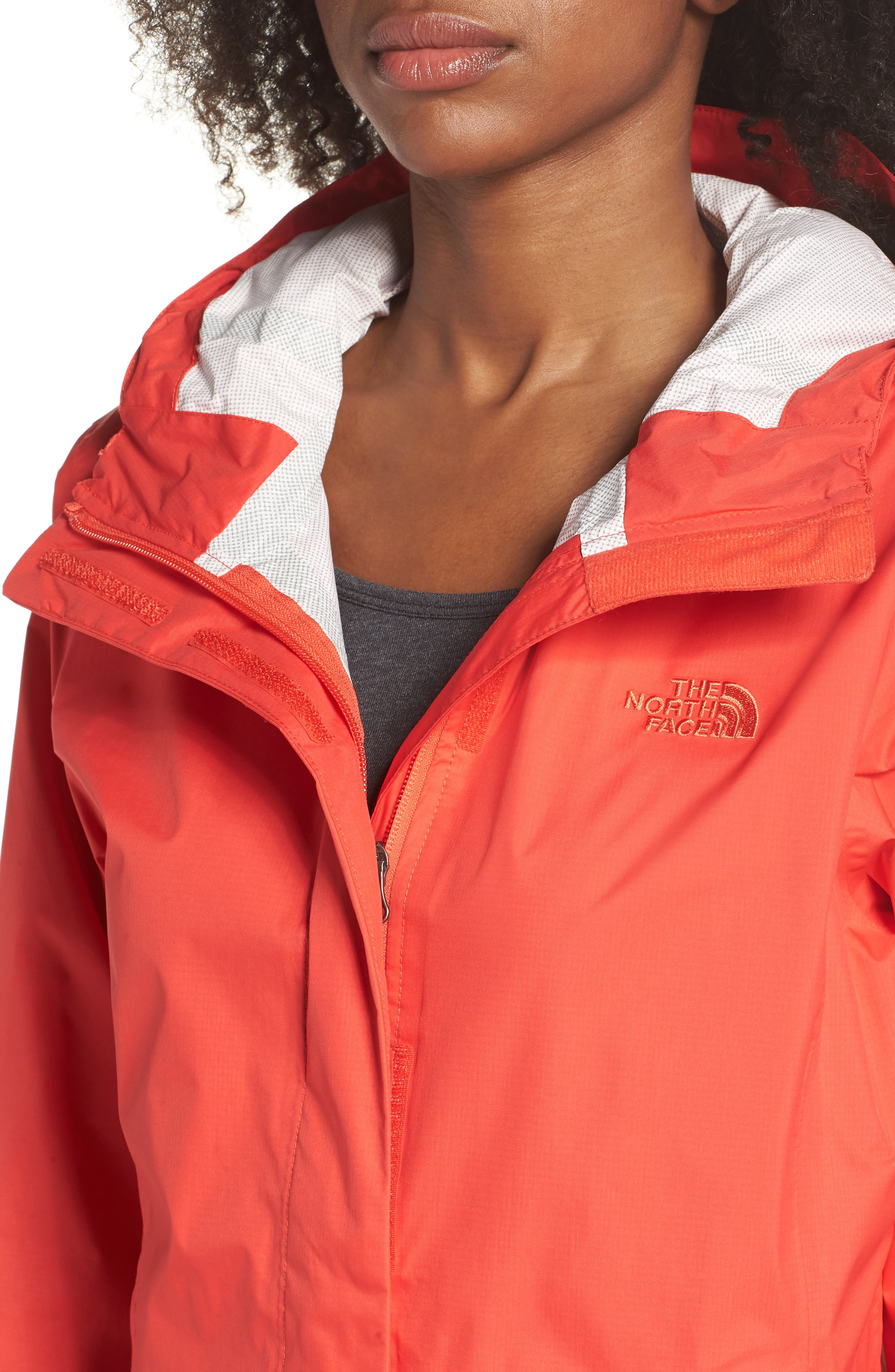THE NORTH FACE, Venture 2 Waterproof Jacket, Alternate thumbnail 5, color, JUICY RED