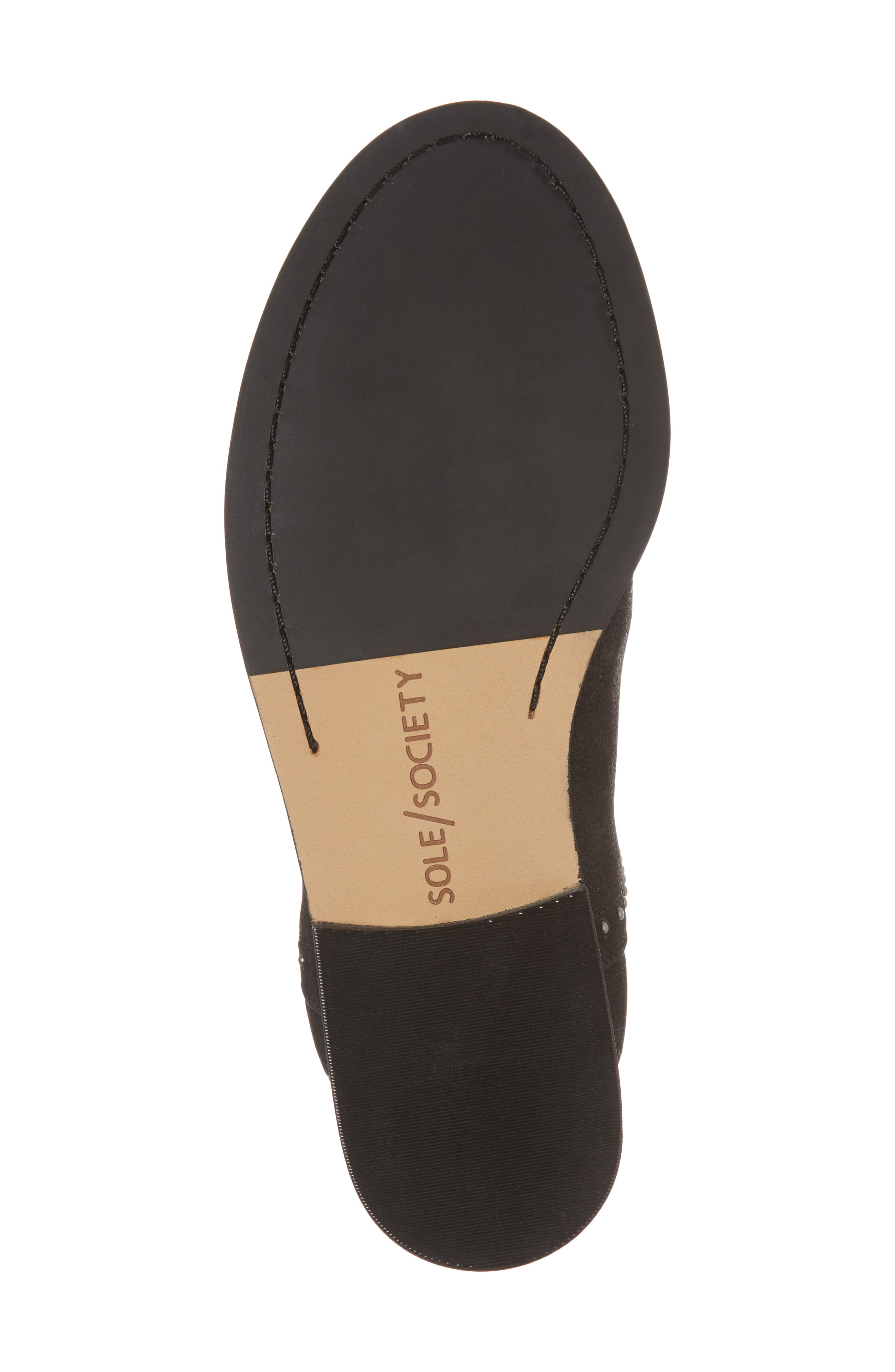 SOLE SOCIETY, Birty Bootie, Alternate thumbnail 6, color, BLACK