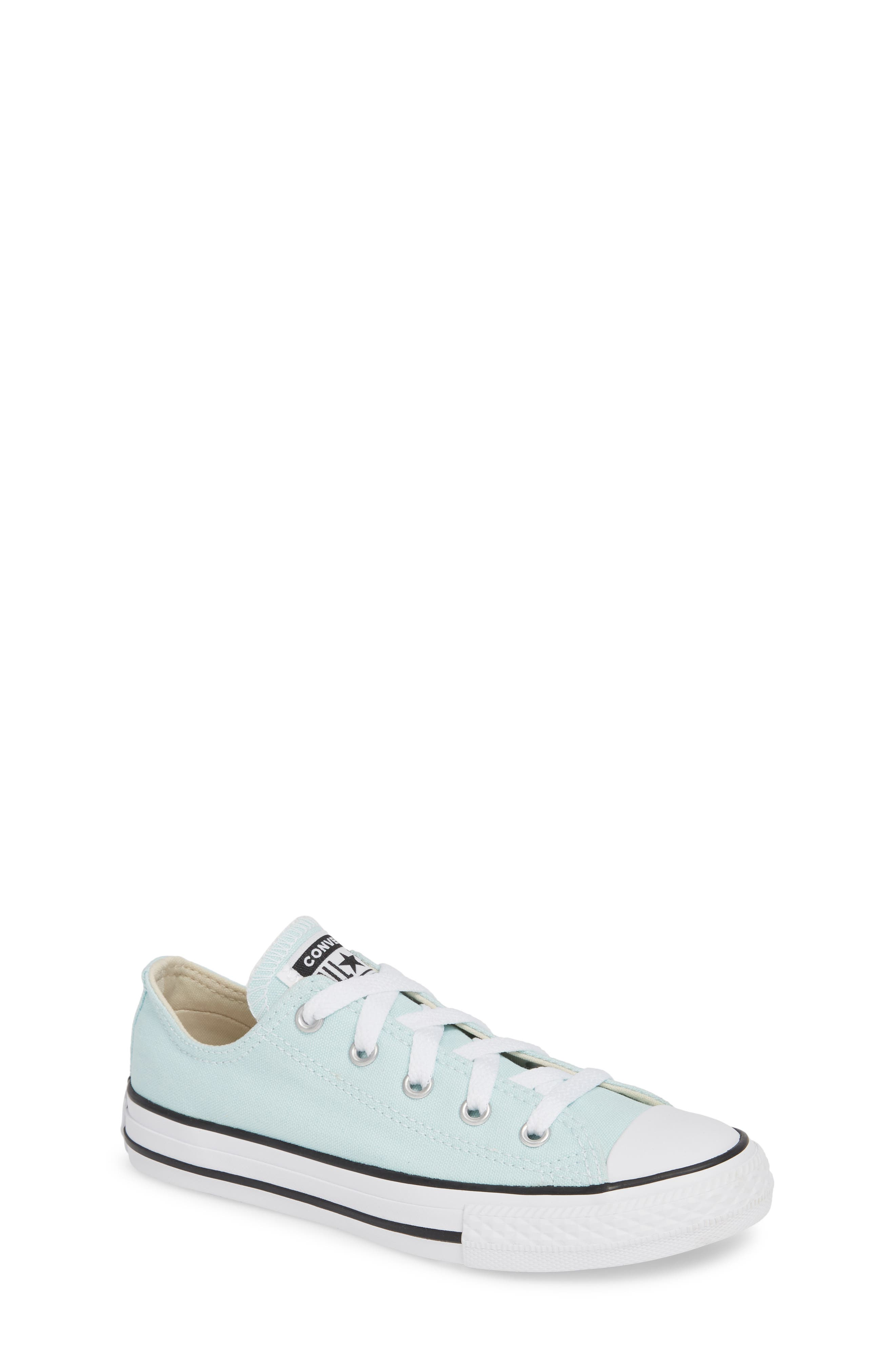 CONVERSE, Chuck Taylor<sup>®</sup> Sneaker, Main thumbnail 1, color, TEAL TINT/ IVORY/ WHITE