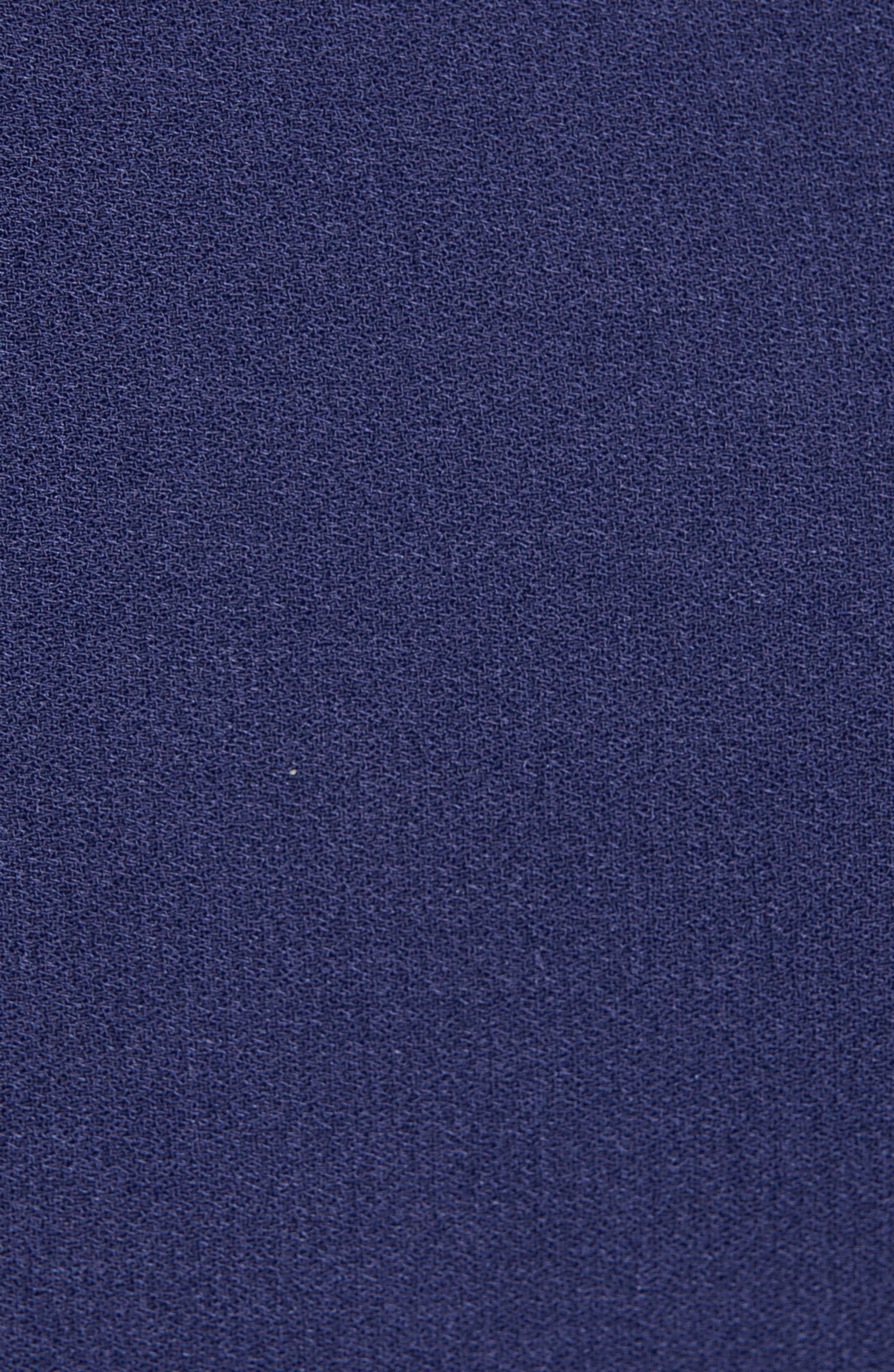 LEITH, Pleated Surplice Dress, Alternate thumbnail 7, color, NAVY PEACOAT