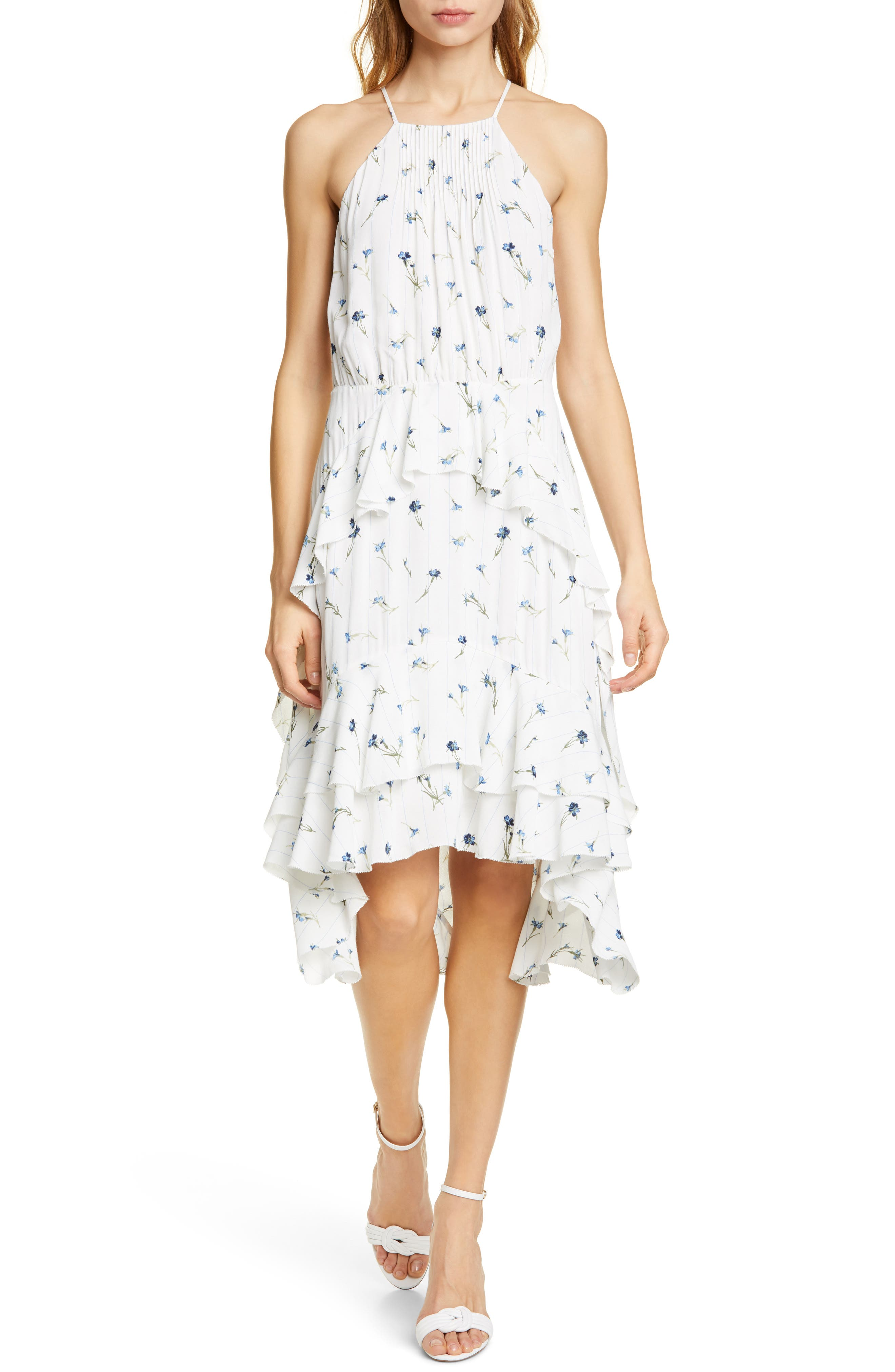 Joie Lamberta Sleeveless High/low Dress, Ivory