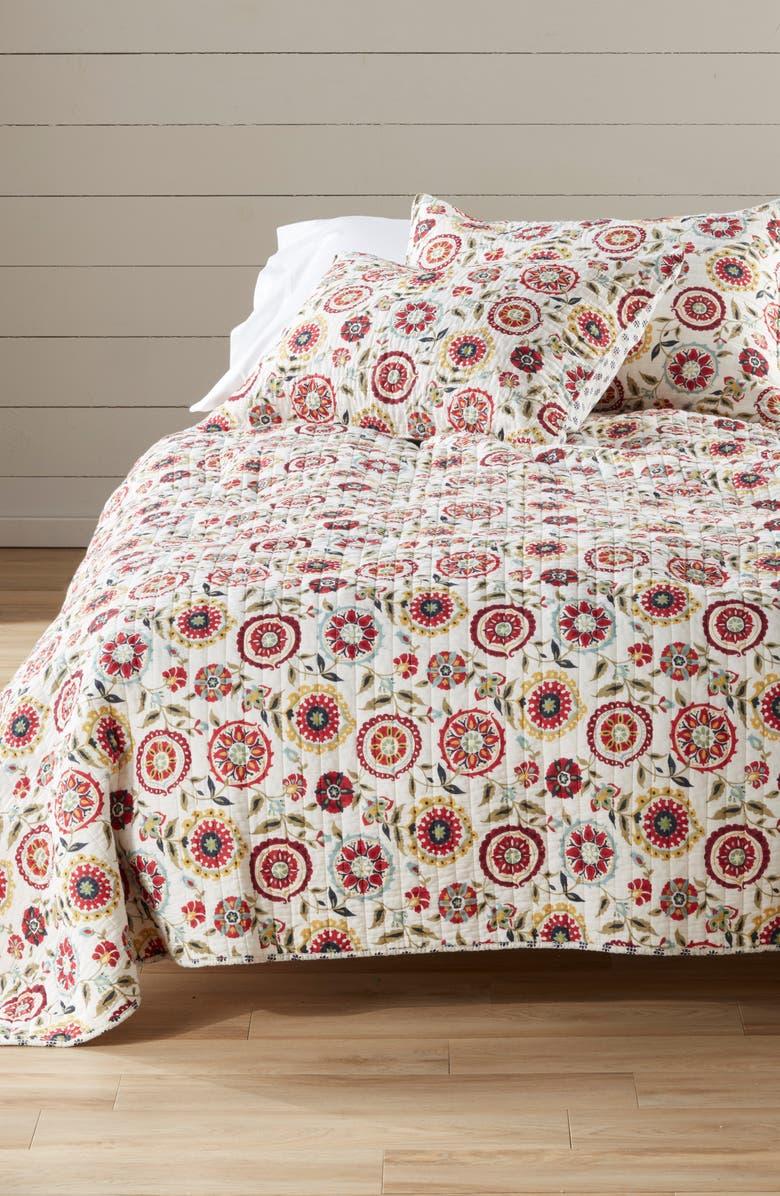 LEVTEX Serena Reversible Quilt, Main, color, MULTI BEIGE