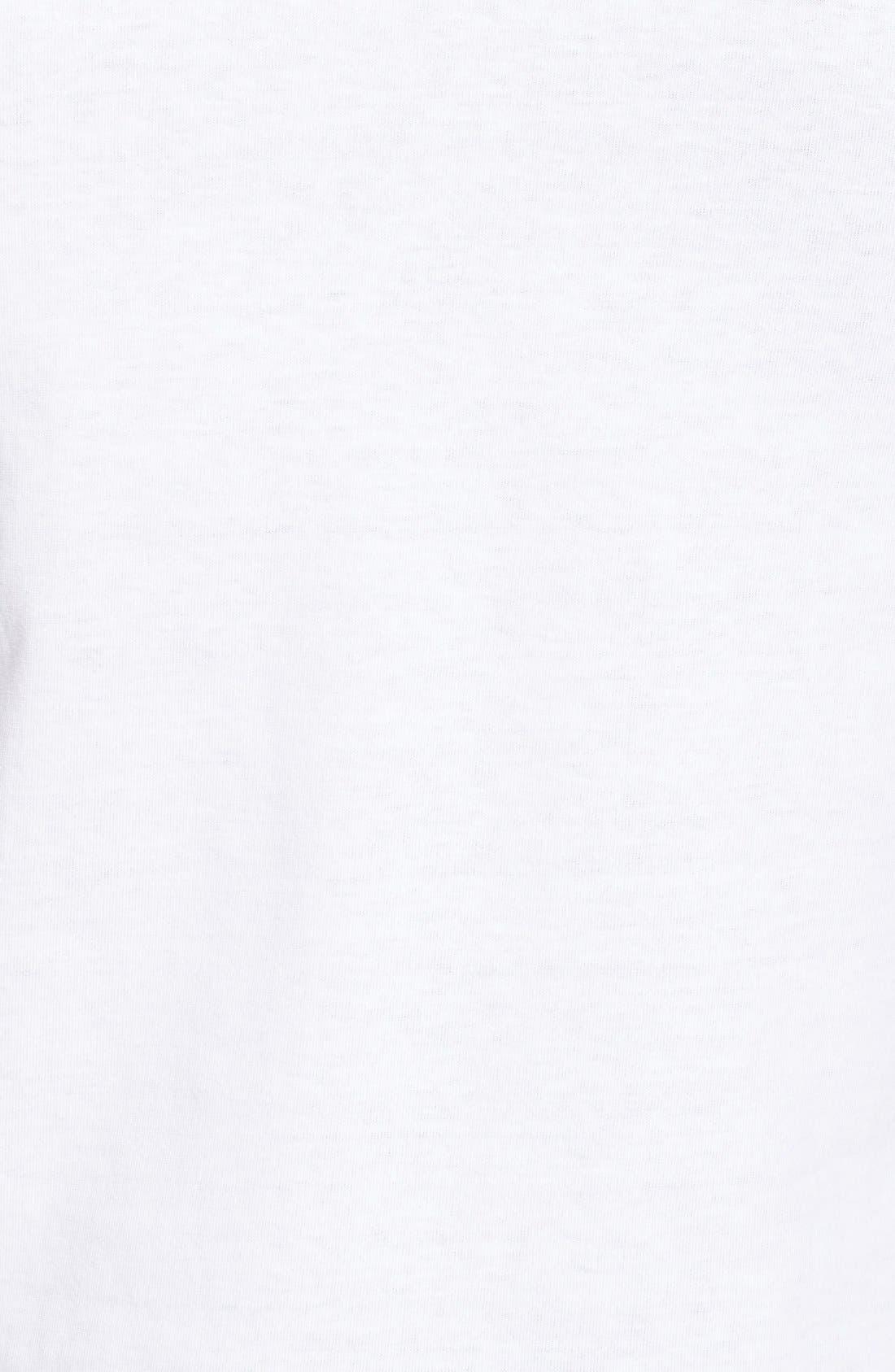 COMME DES GARÇONS PLAY, Graphic T-Shirt with Heart Appliqué, Alternate thumbnail 5, color, WHITE