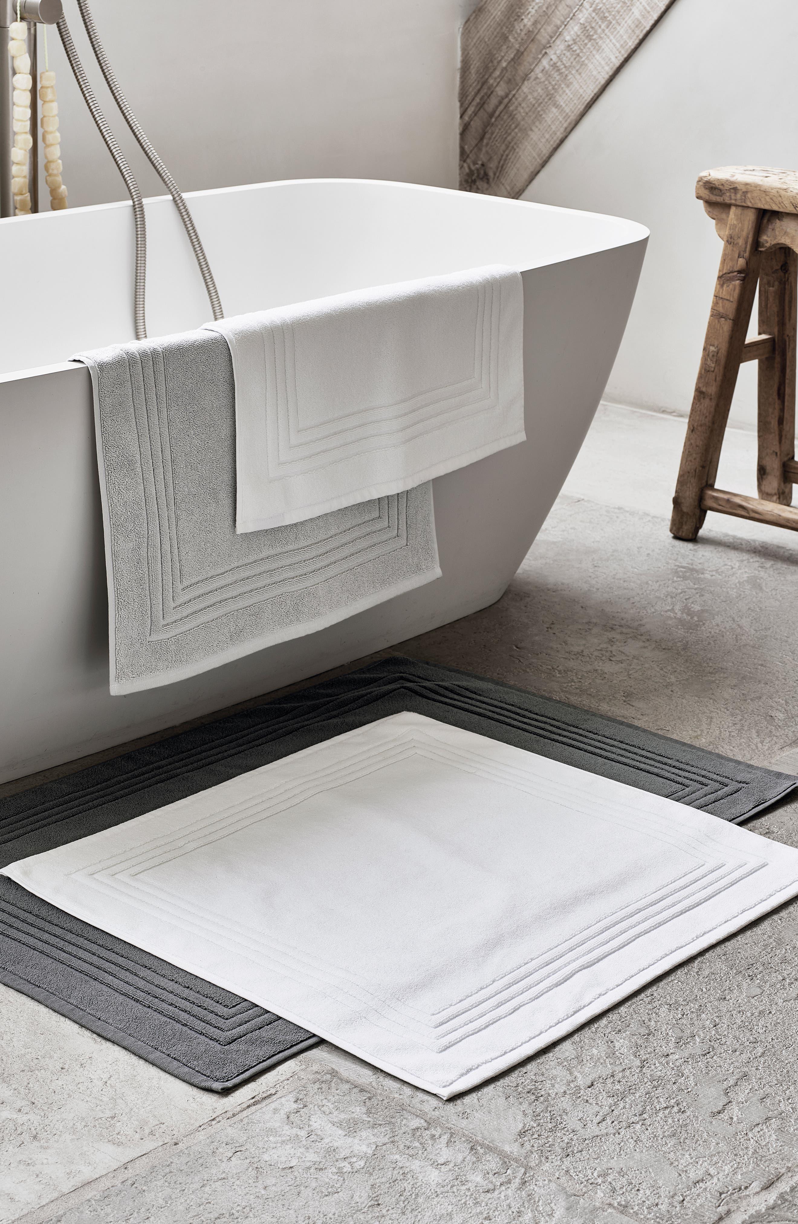 THE WHITE COMPANY, Egyptian Cotton Bath Mat, Alternate thumbnail 3, color, SLATE
