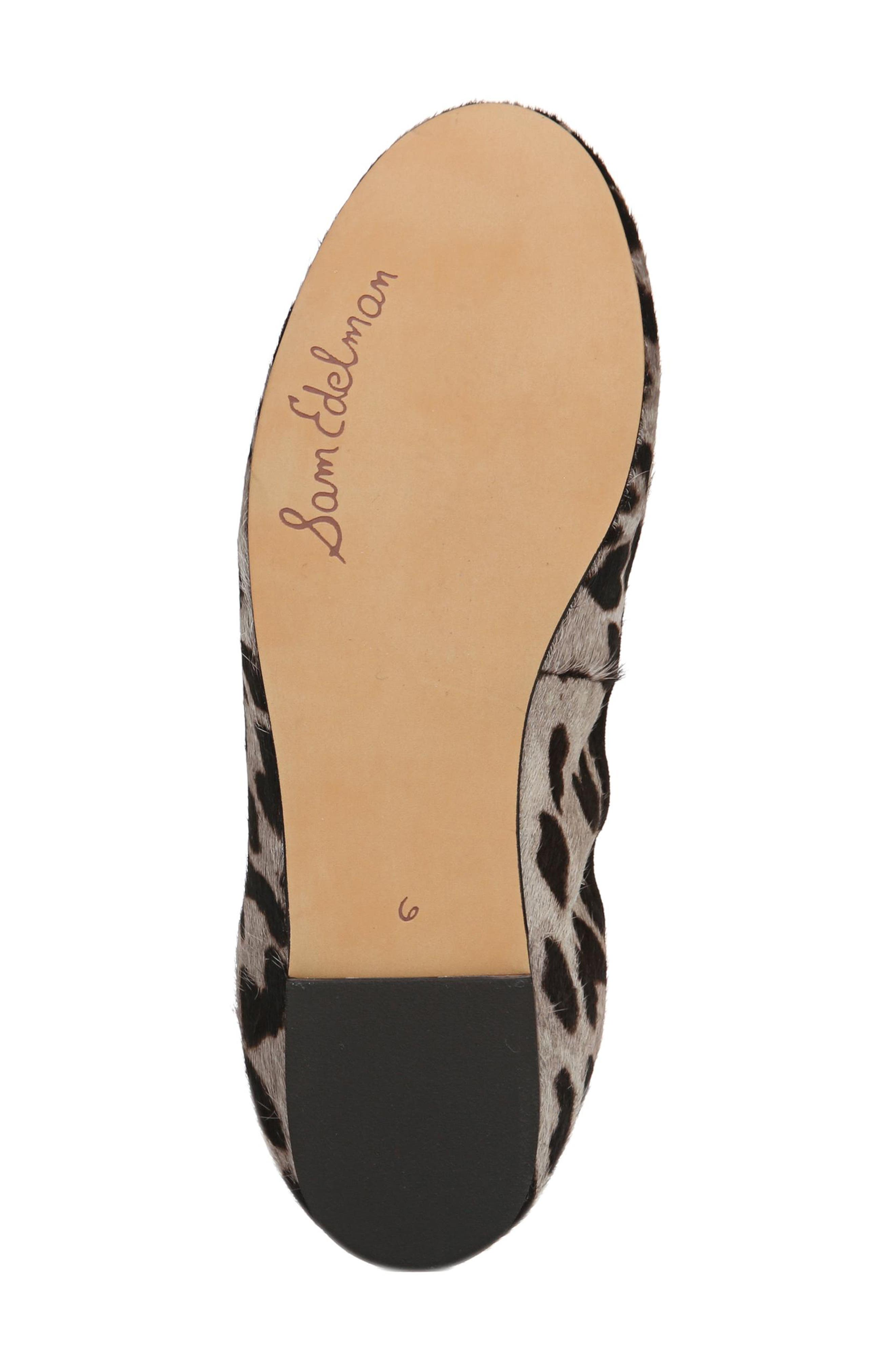 SAM EDELMAN, Felicia Flat, Alternate thumbnail 6, color, CLOUDED LEOPARD BRAHMA HAIR