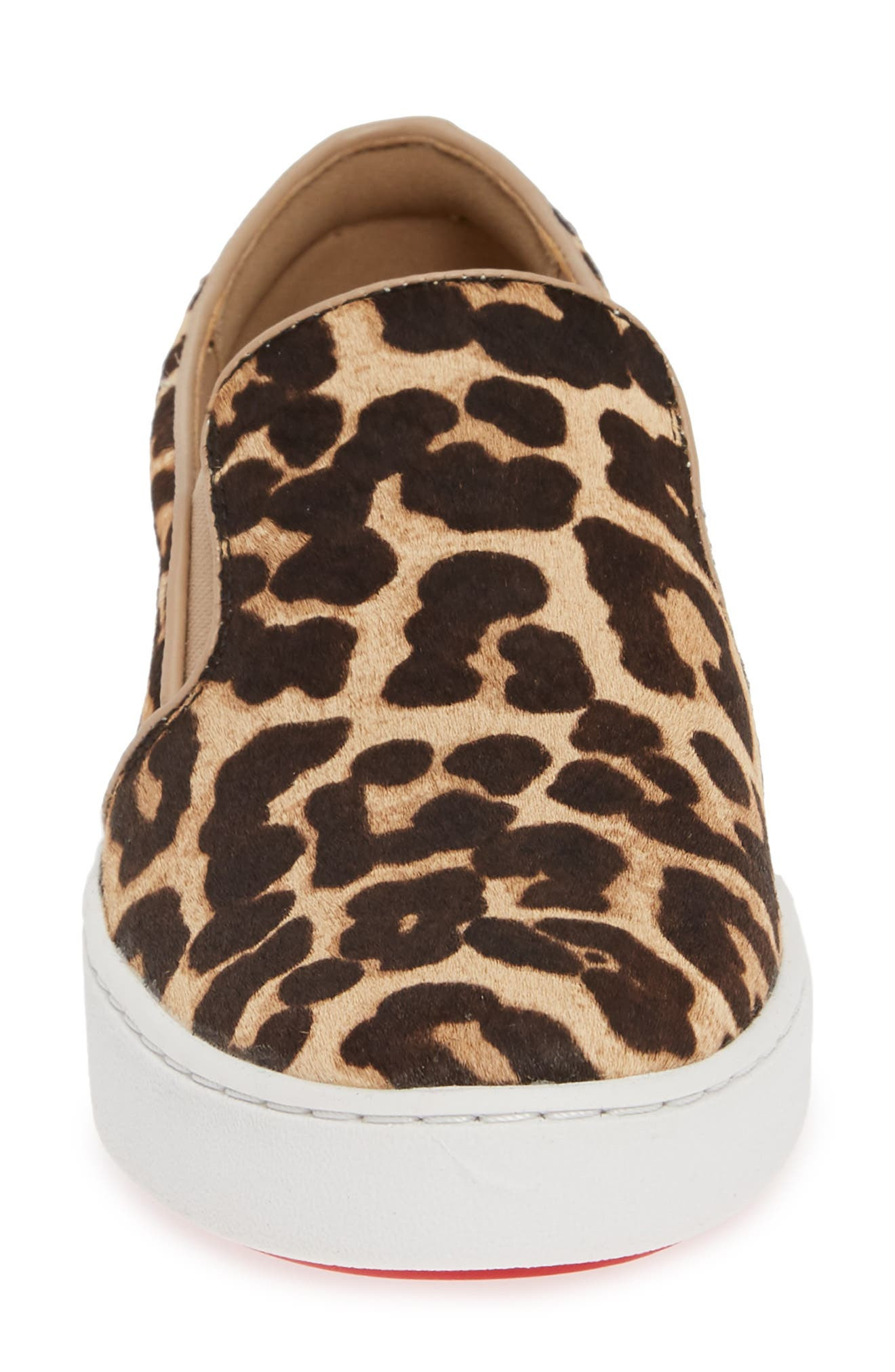 MICHAEL MICHAEL KORS, Keaton Genuine Calf Hair Slip-On Sneaker, Alternate thumbnail 4, color, NATURAL CALF HAIR