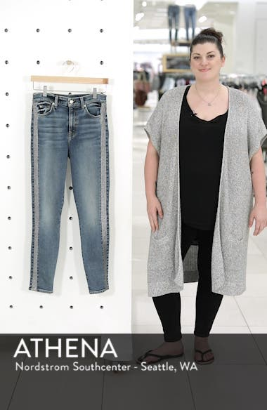 Luxe Vintage Side Stripe High Waist Ankle Skinny Jeans, sales video thumbnail