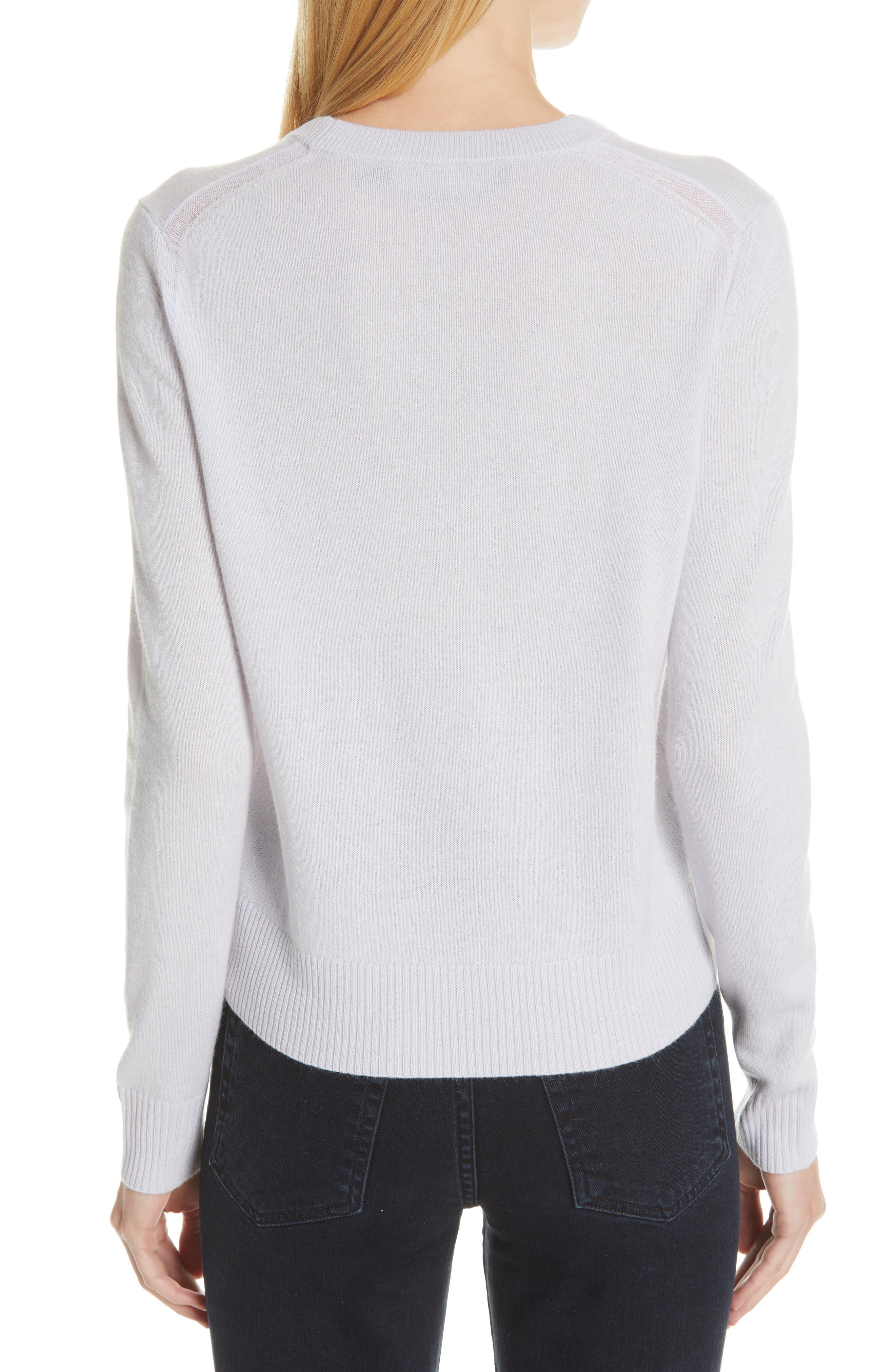 PROENZA SCHOULER, Cashmere Sweater, Alternate thumbnail 2, color, BLUE GREY