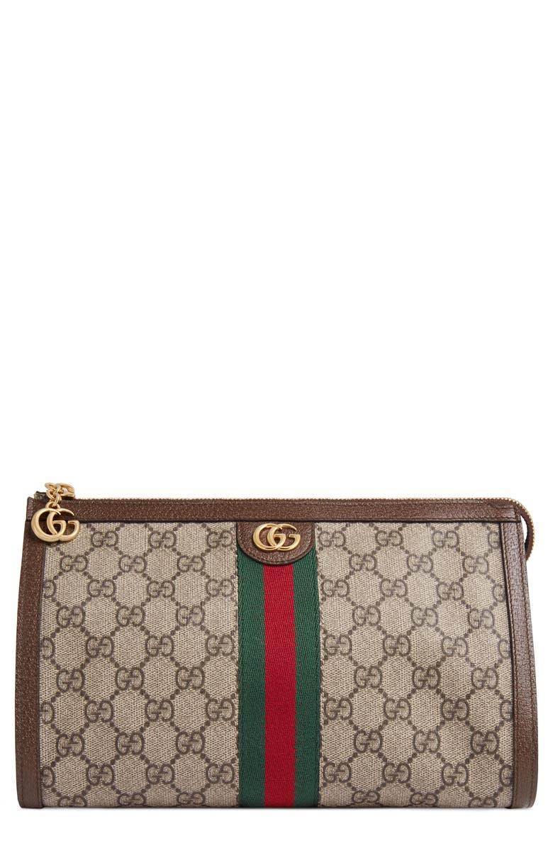 0e74bd62812 Gucci Ophidia GG Supreme Canvas Cosmetics Case