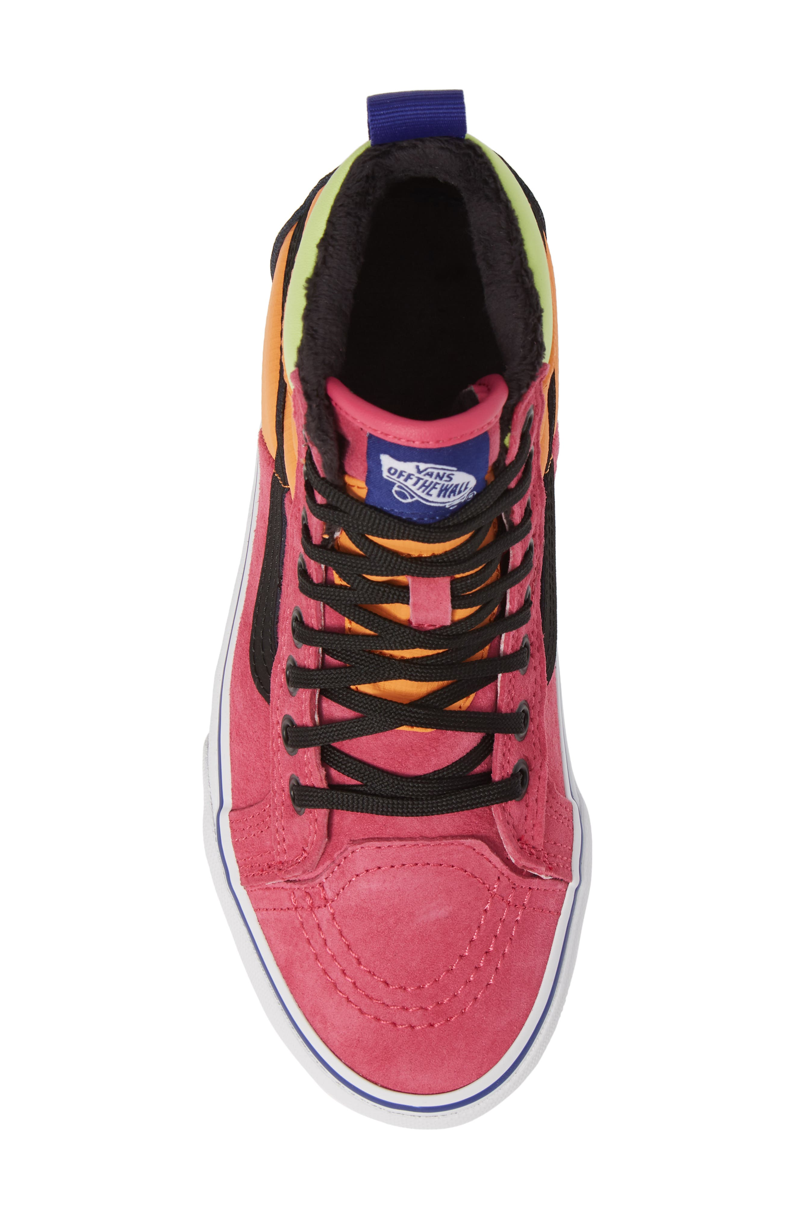 VANS, Sk8-Hi 46 MTE DX Sneaker, Alternate thumbnail 5, color, PINK YARROW/ TANGERINE/ BLACK