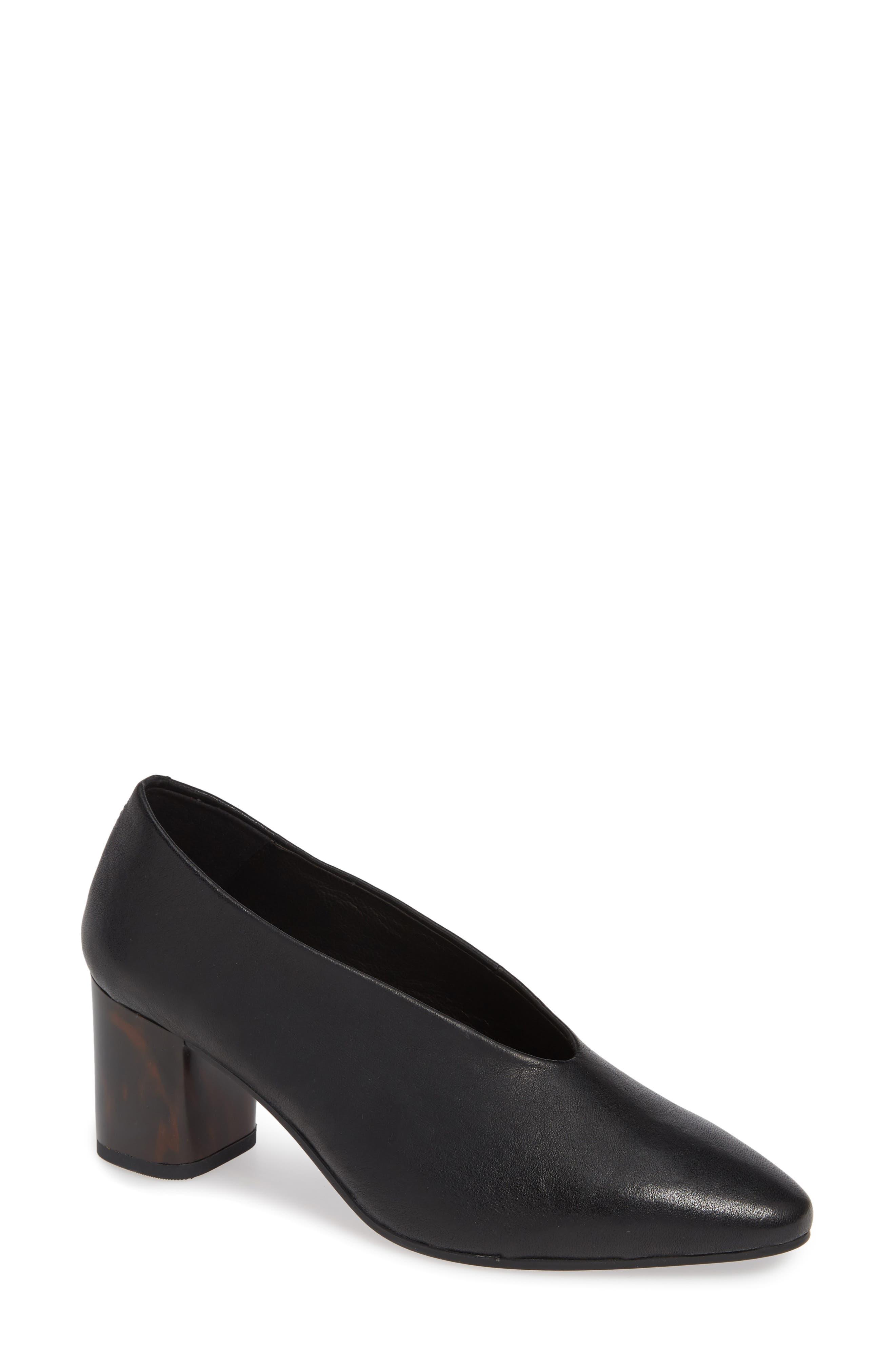 VAGABOND, Shoemakers Eve Pump, Main thumbnail 1, color, BLACK/ BLACK LEATHER