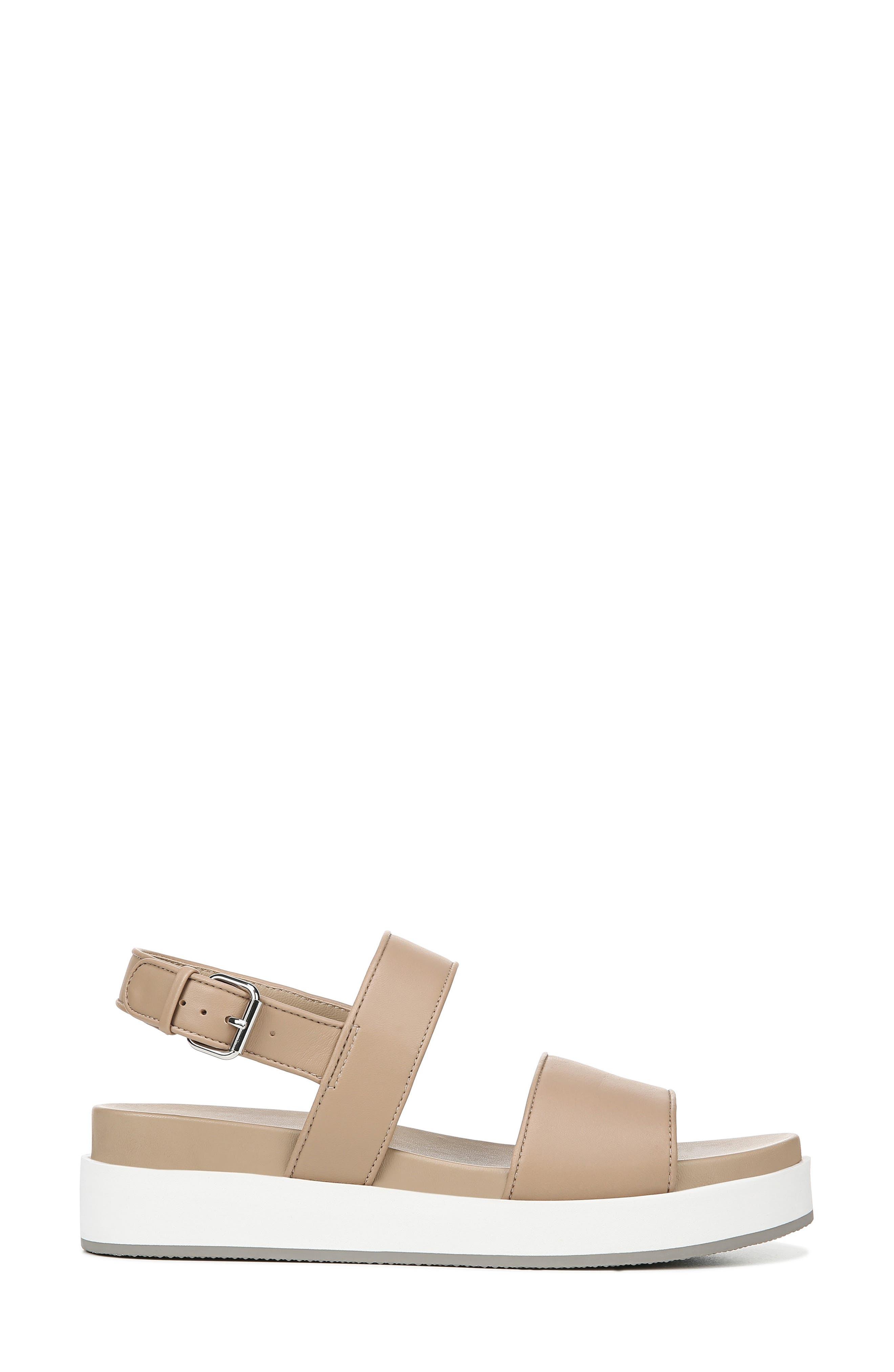 VIA SPIGA, Davi Platform Sandal, Alternate thumbnail 3, color, DESERT NAPPA