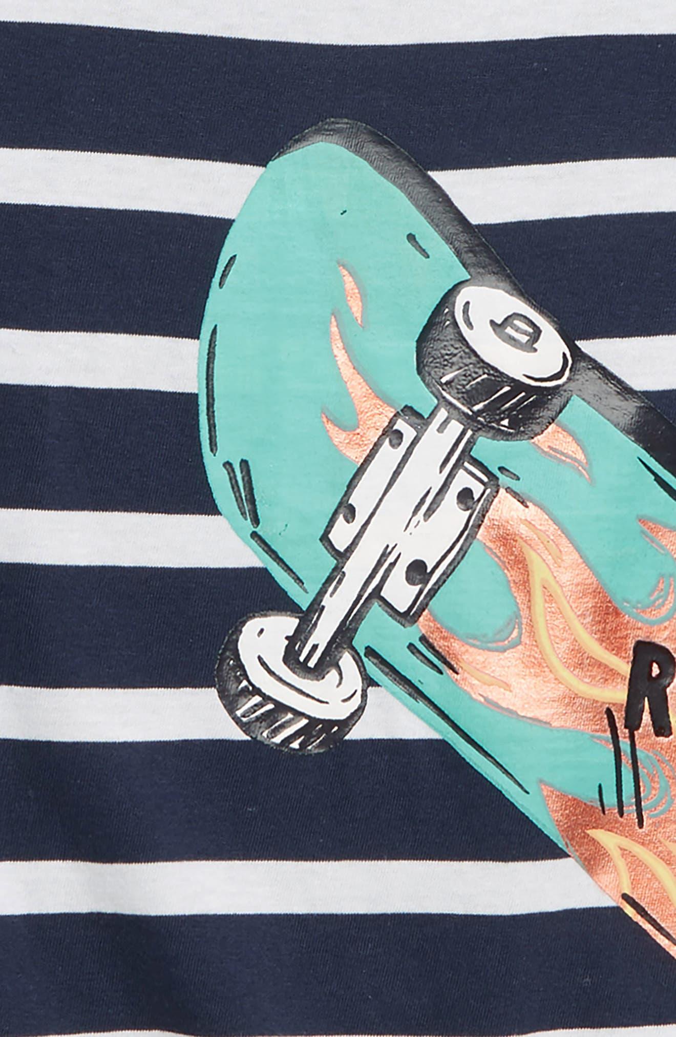HATLEY, Cool Deck Graphic T-Shirt, Alternate thumbnail 2, color, BLUE
